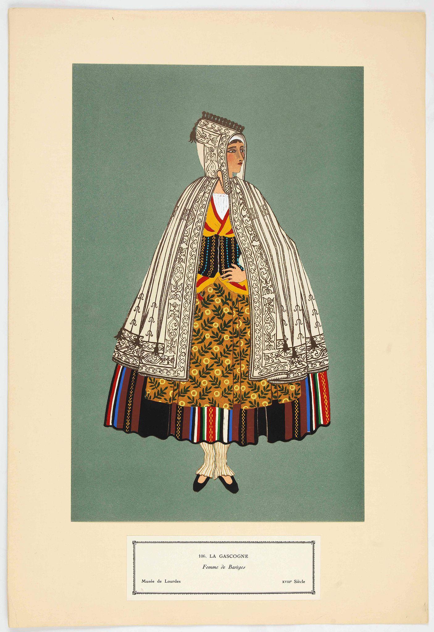 GARDILANNE (G.de) et MOFFAT (E.W.) -  Femme de Barèges (106, La Gascogne).