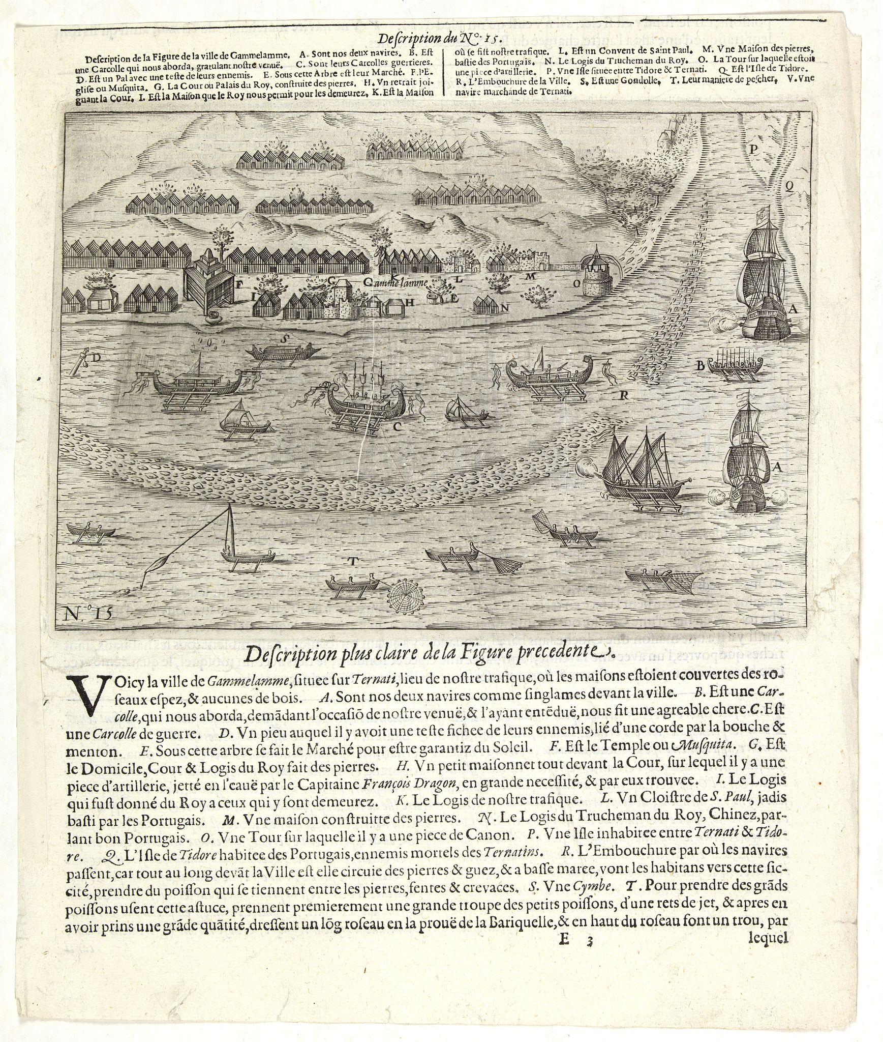 LODEWYCKSZ, Willem -  [Description de la Figure de la ville de Gammelamme - Description du N° 15]