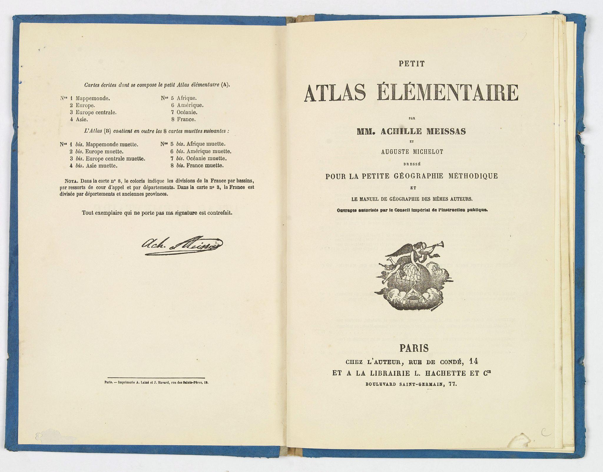 MEISSAS / MICHELOT. - Petit Atlas Elementaire.