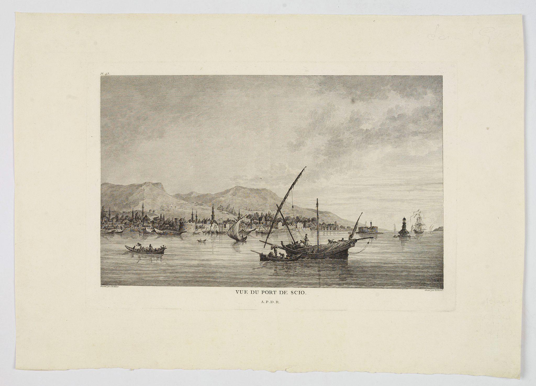 HILAIR / LIENARD. - Vue du Port de Scio.
