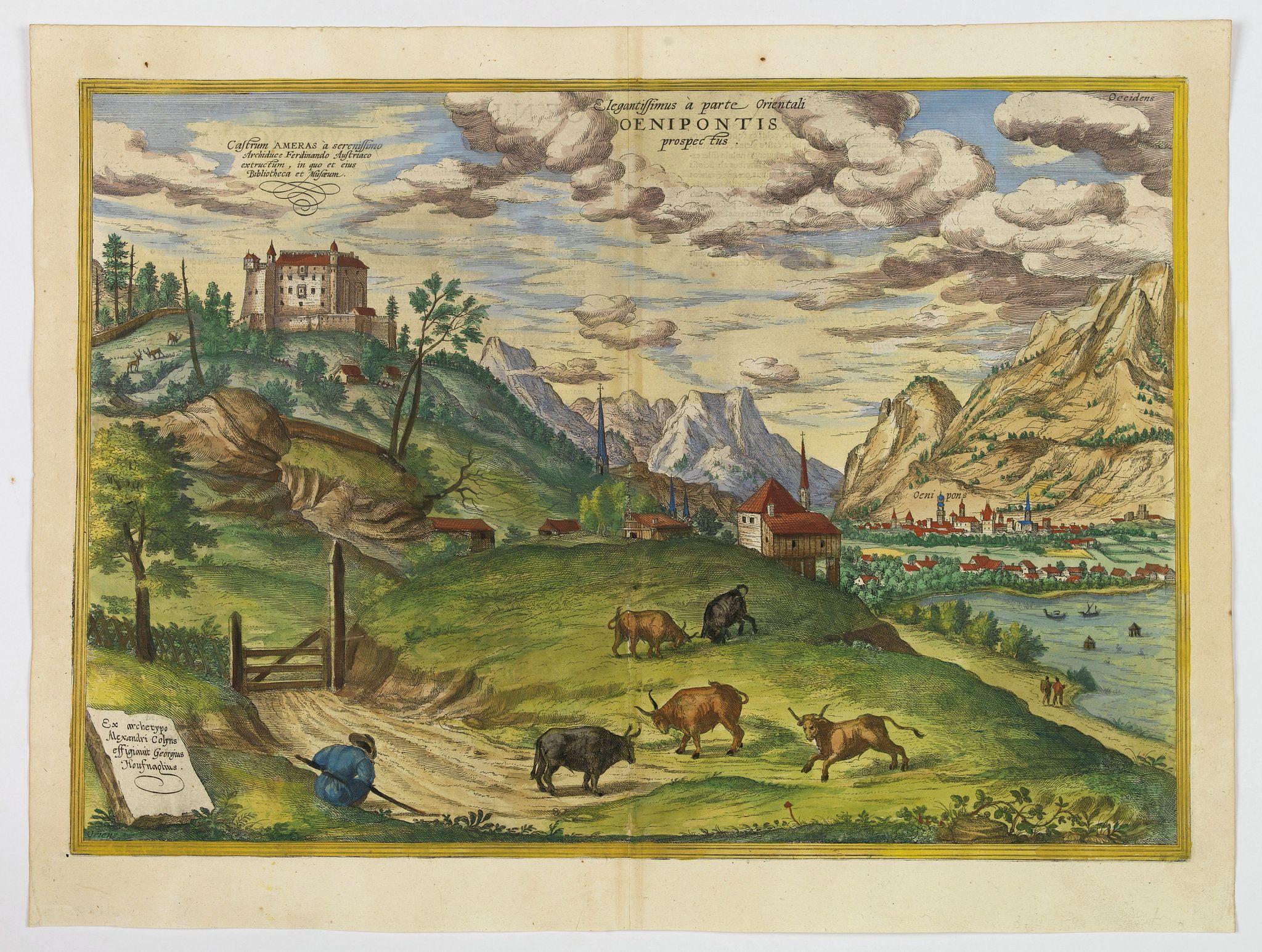 BRAUN,G. / HOGENBERG, F. -  Elegantissimus a parte Orientali Oenipontis prospectus.