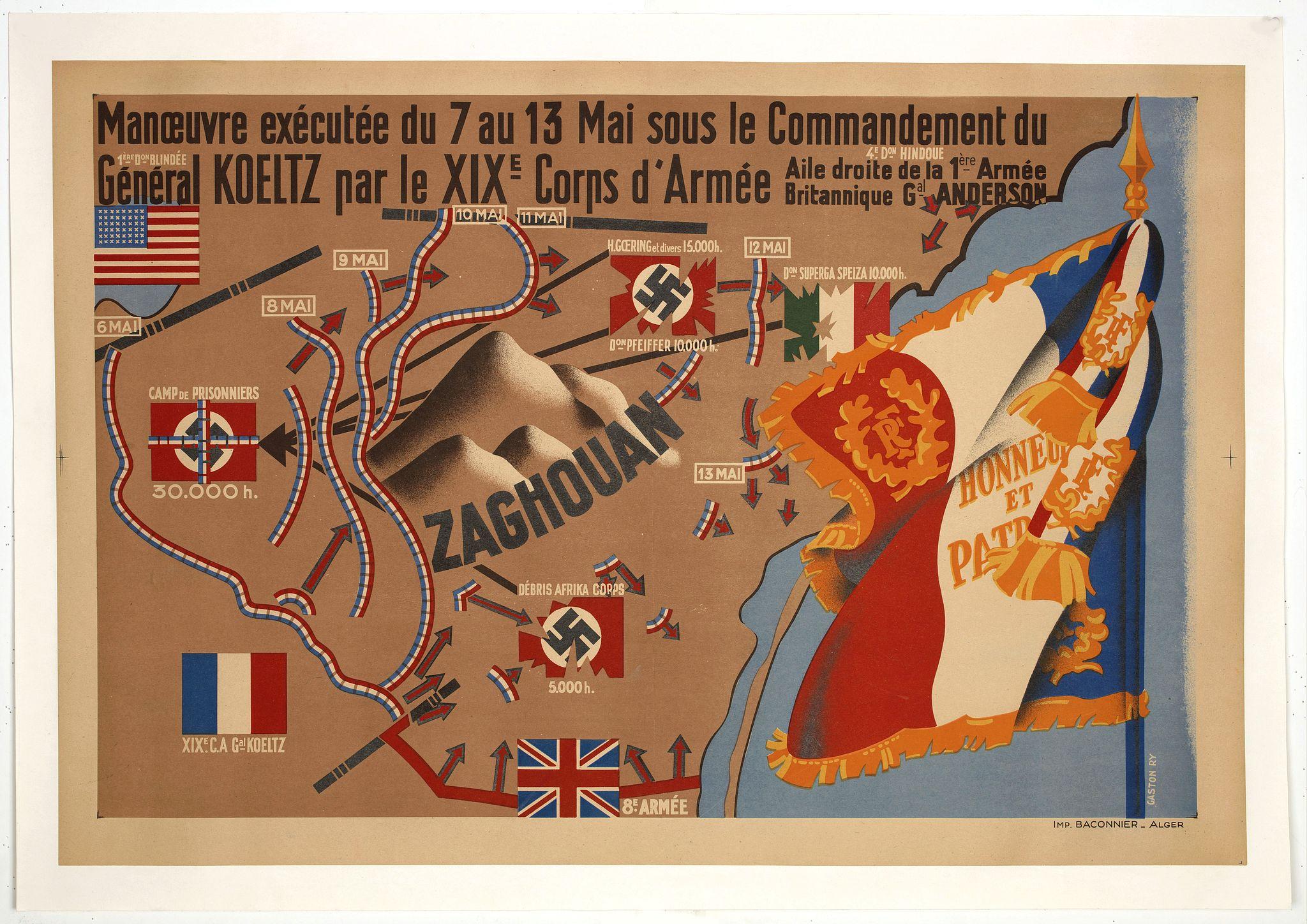 RY, G. -  Manoeuvres executées du 7 au 13 mai sous le Commandement du général Koeltz,par le XIXe Corps d'Armée. . .