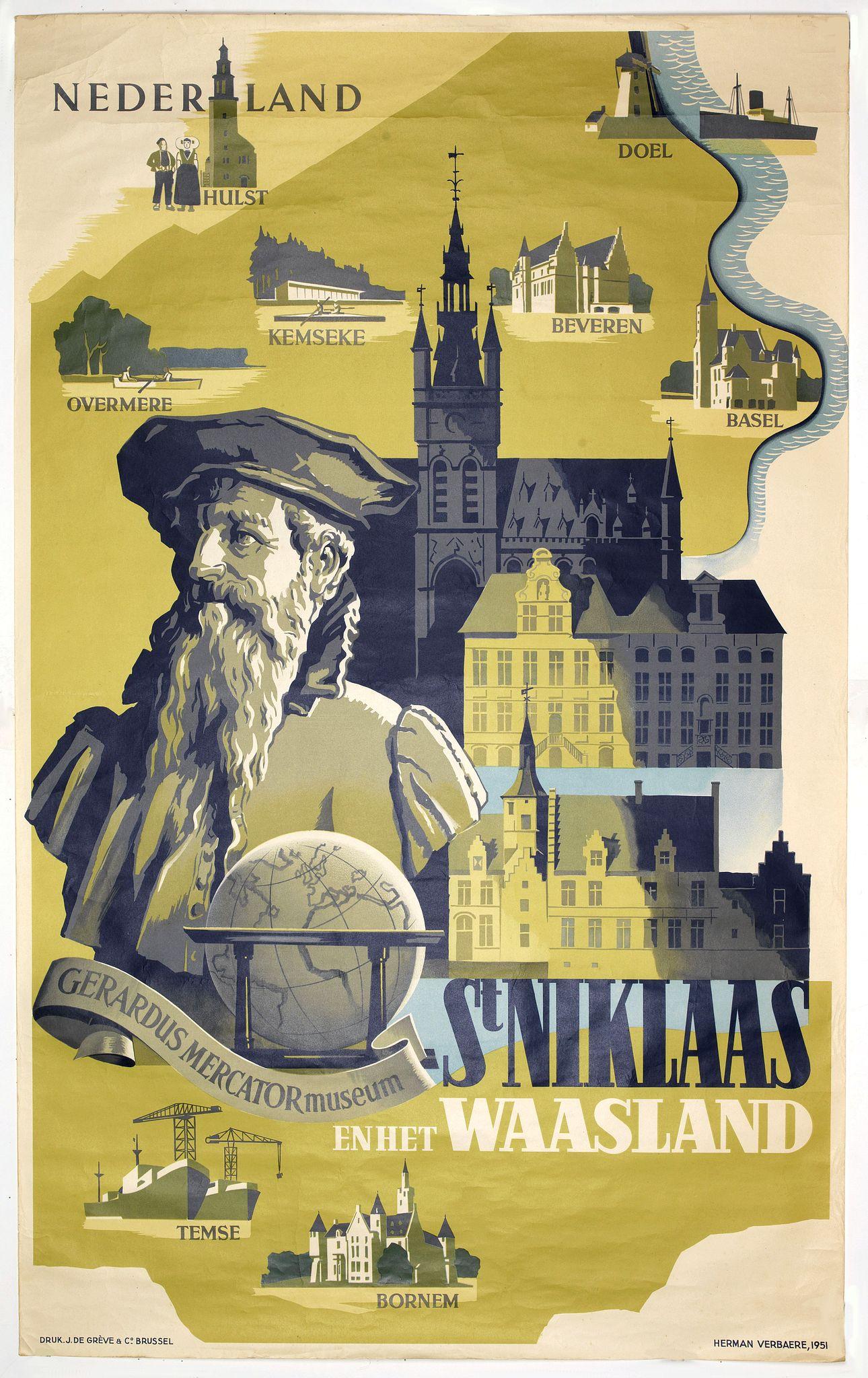 VANBAERE, H. -  Sint Niklaas en het Waasland Gerardus Mercator Museum.