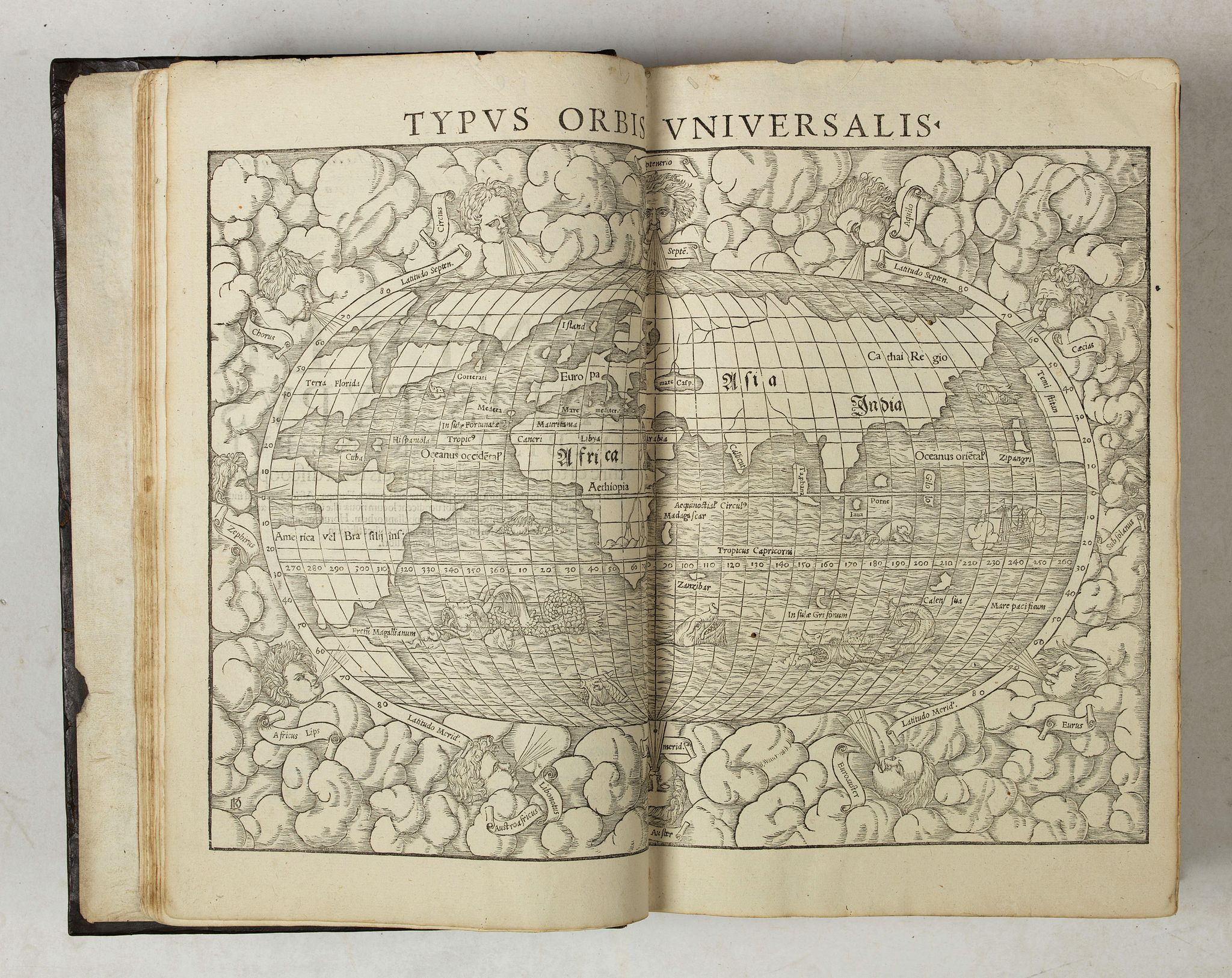 MÜNSTER, S.,  Cosmographiae universalis lib. VI., antique map, old maps