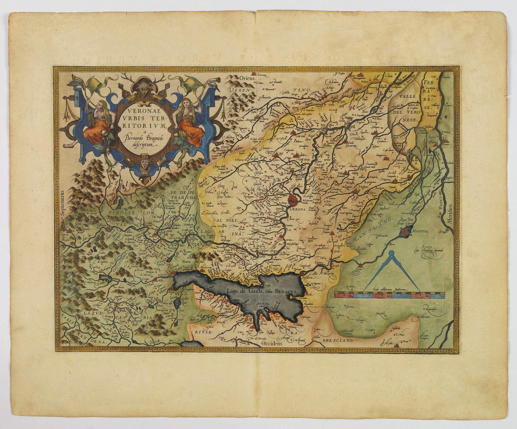 ORTELIUS, A. -  Veronae Urbis Territorium.