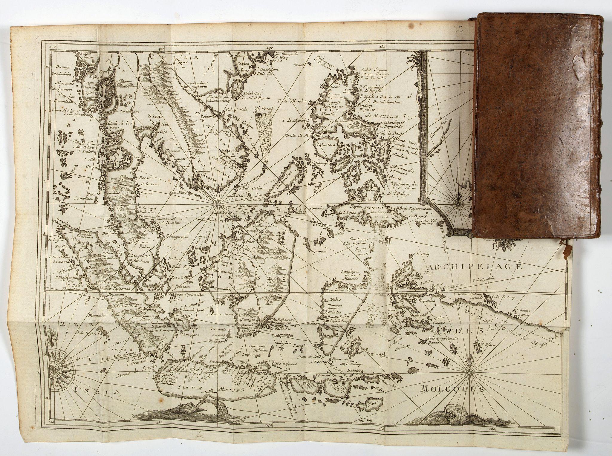 DE RENNEVILLE, R.A.C. -  Recueil des voyages qui ont servi à l'établissement et aux progrez de la Compagnie des Indes Orientales, forméedans les Provinces-Unies des Païs-Bas…