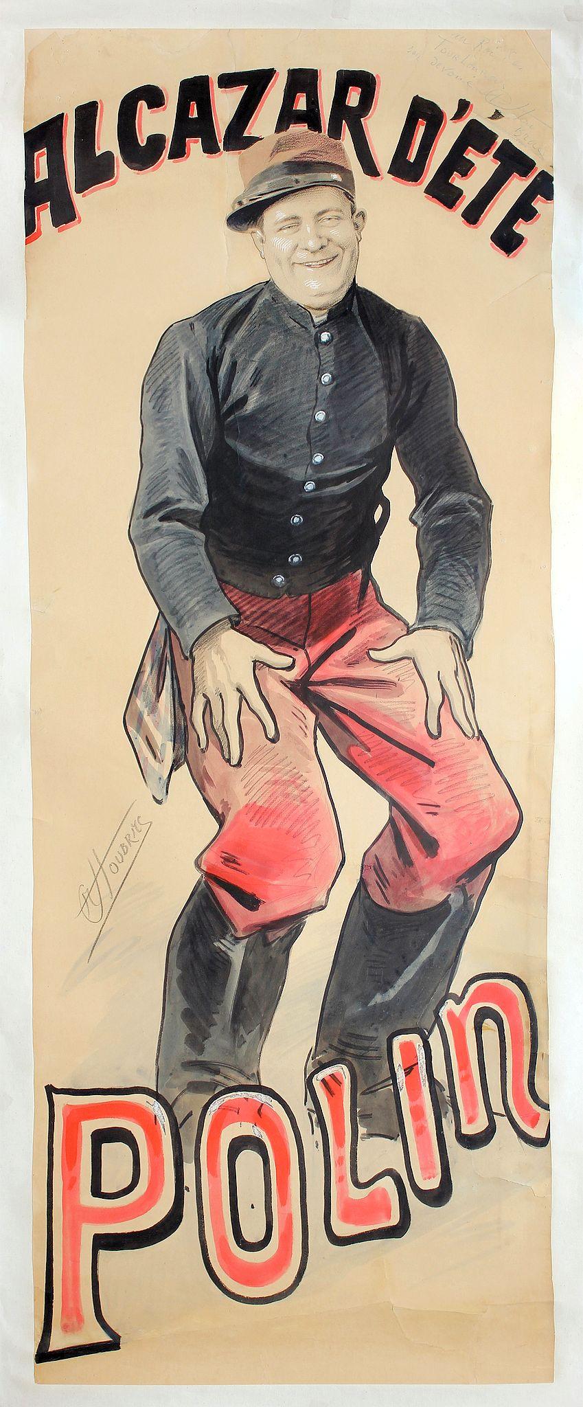 CHOUBRAC, A. -  Alcazar d'été - Polin. (Gouache signed A. Choubrac)