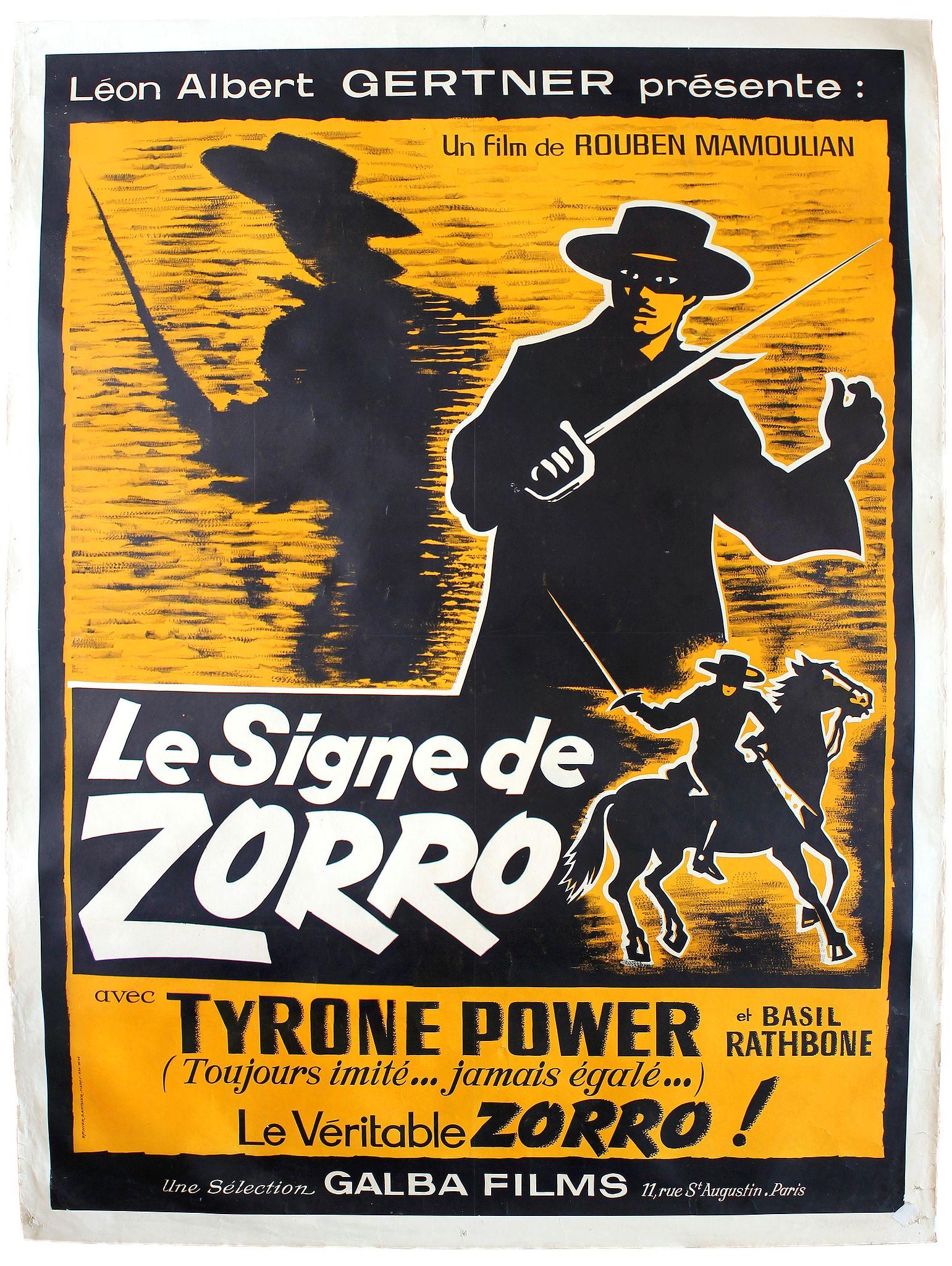 RICHIER LAUCHIER ETS -  Le signe de Zorro. (The Mark of Zorro)