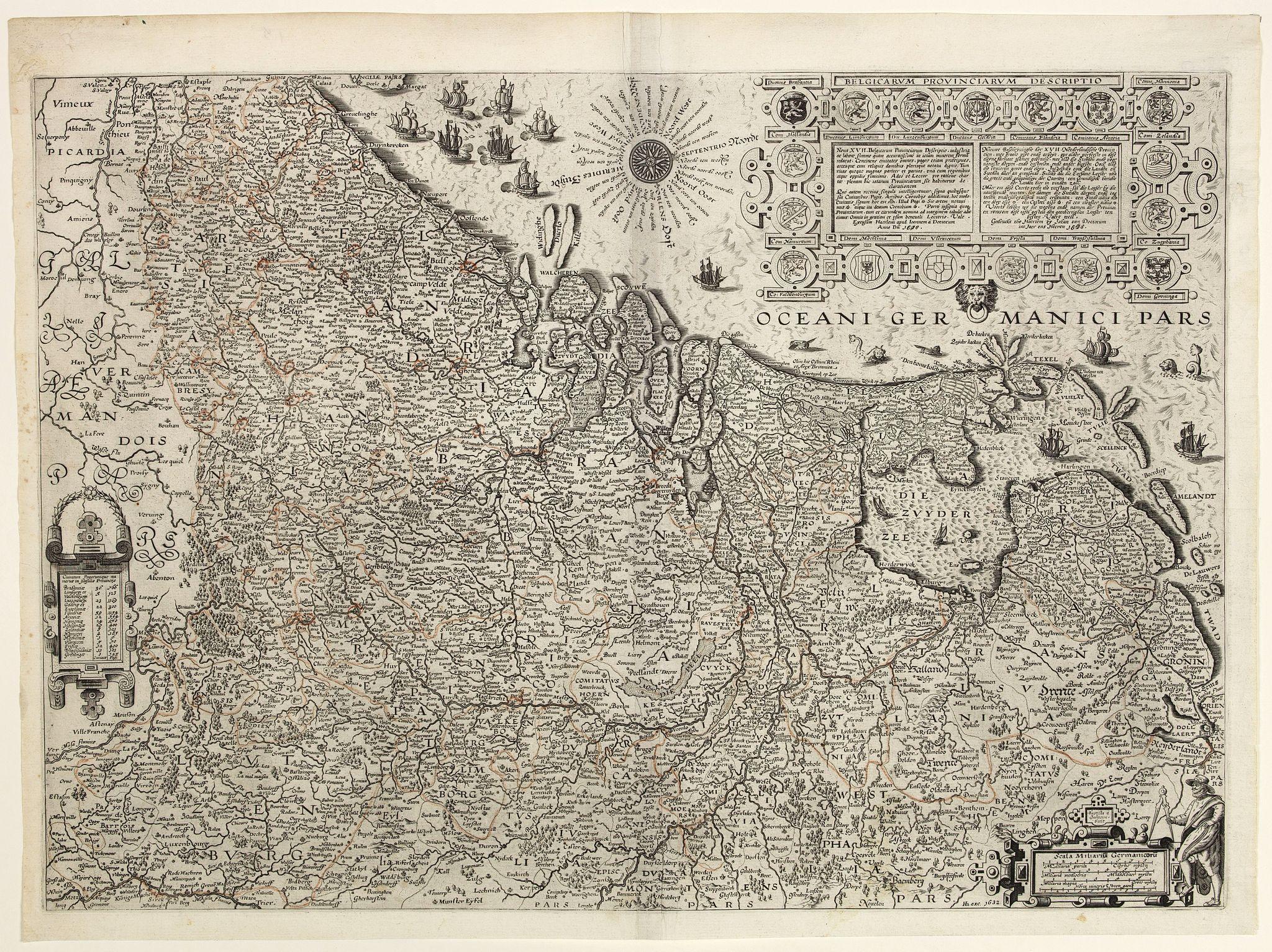 VAN DOECTECUM, J. -  Belgicarum Provinciarum Descriptio. Gedruckt te Haerlem. . .