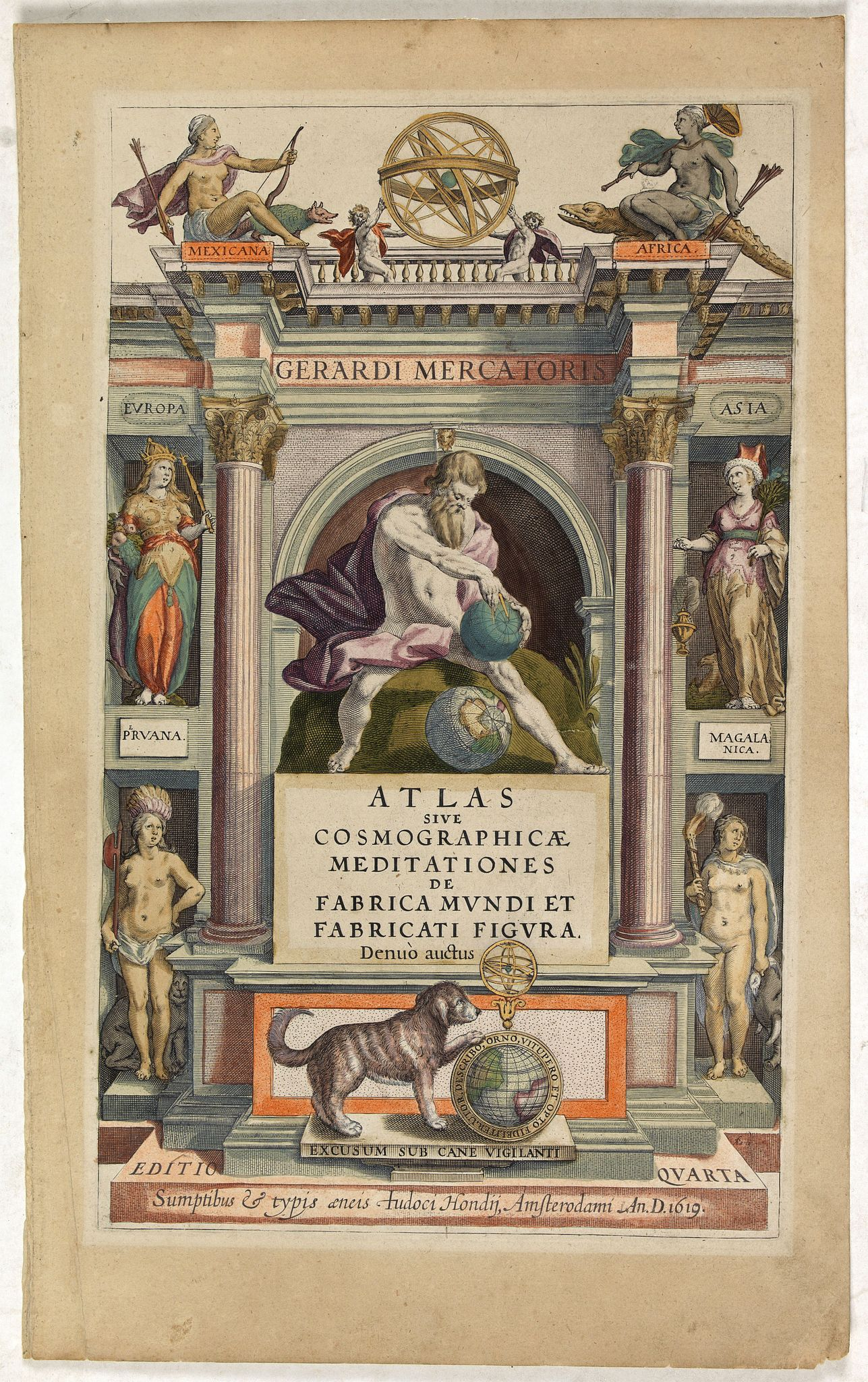 MERCATOR, G./ HONDIUS, J. -  Atlas sive Cosmographicae Meditationes . . . (Title page)