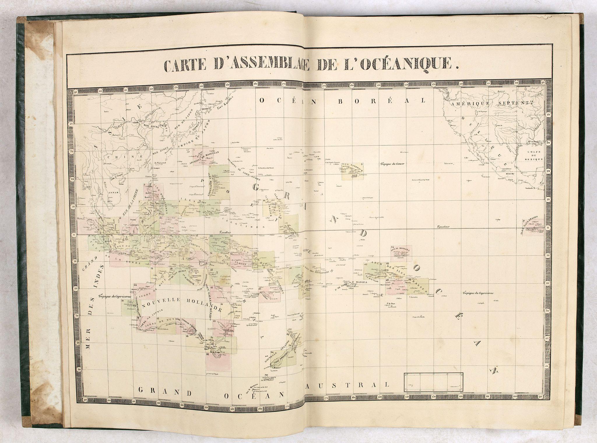 VANDERMAELEN, Ph. -  Atlas Universel de Géographie. Sixième partie - Océanique.