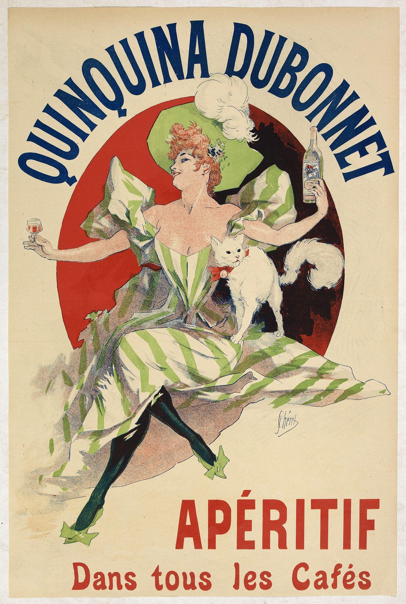 CHERET, J. -  Quinquina Dubonnet, apéritif dans tous les cafés.