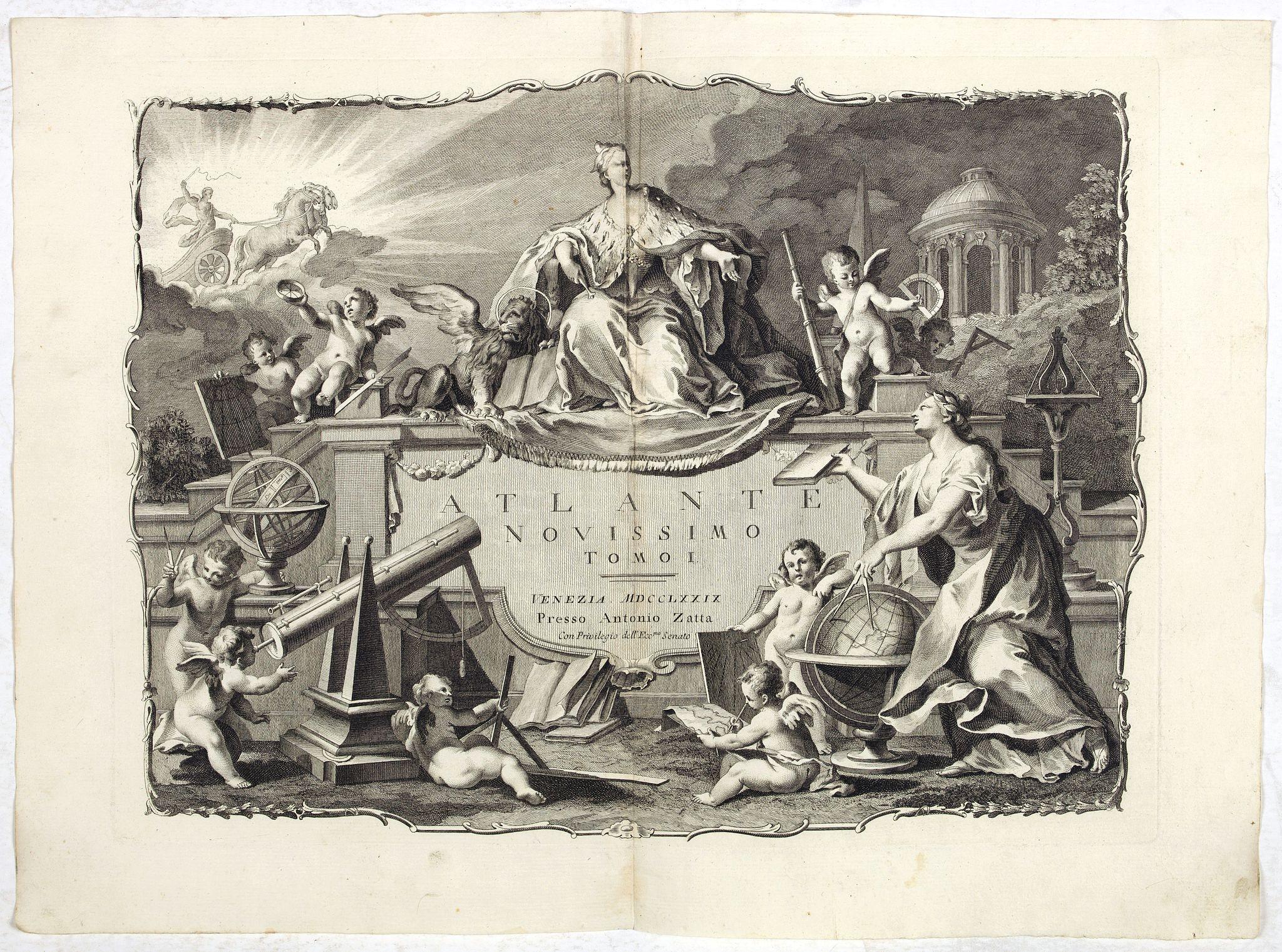 ZATTA, A. -  [Title page] Atlante Novissimo, Tomo I . . .
