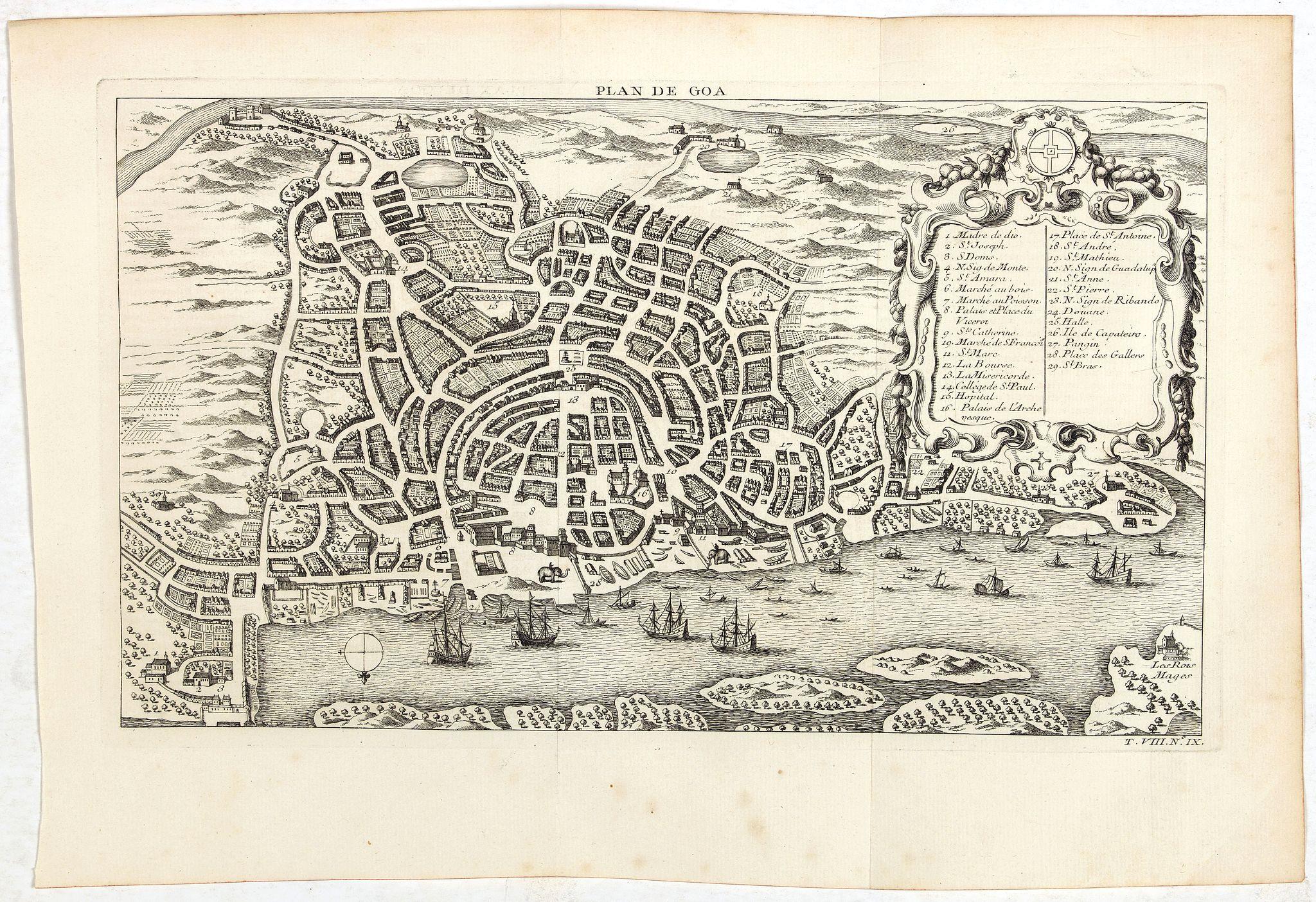 BELLIN, J.N. / PREVOST D'EXILES -  Plan de Goa.