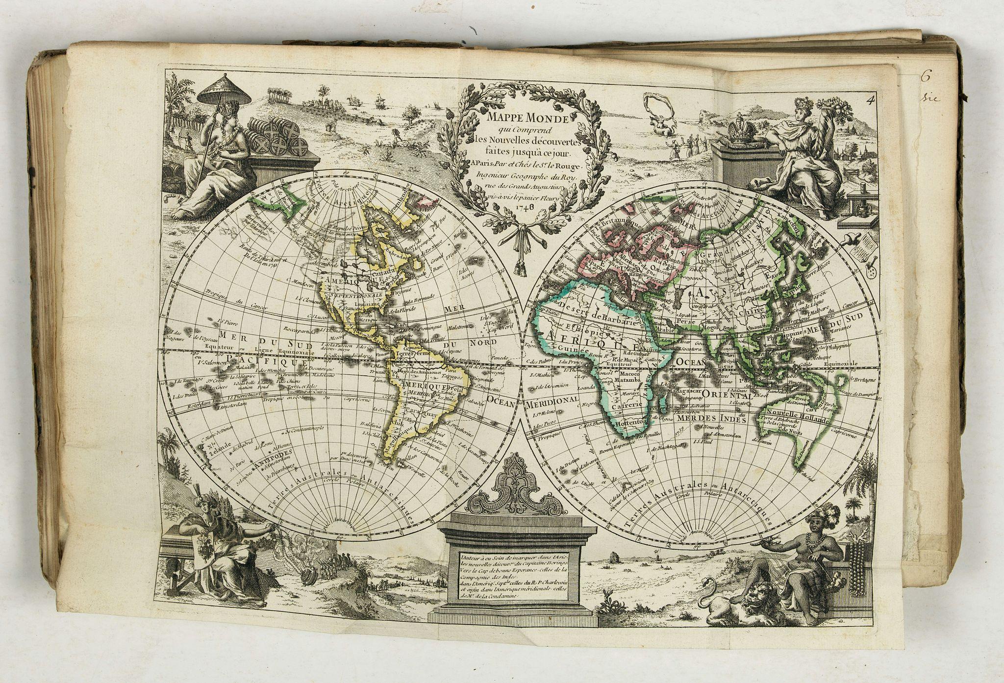 LE ROUGE (Georges-Louis). -  Atlas nouveau portatif à l'usage des militaires et du voyageur.