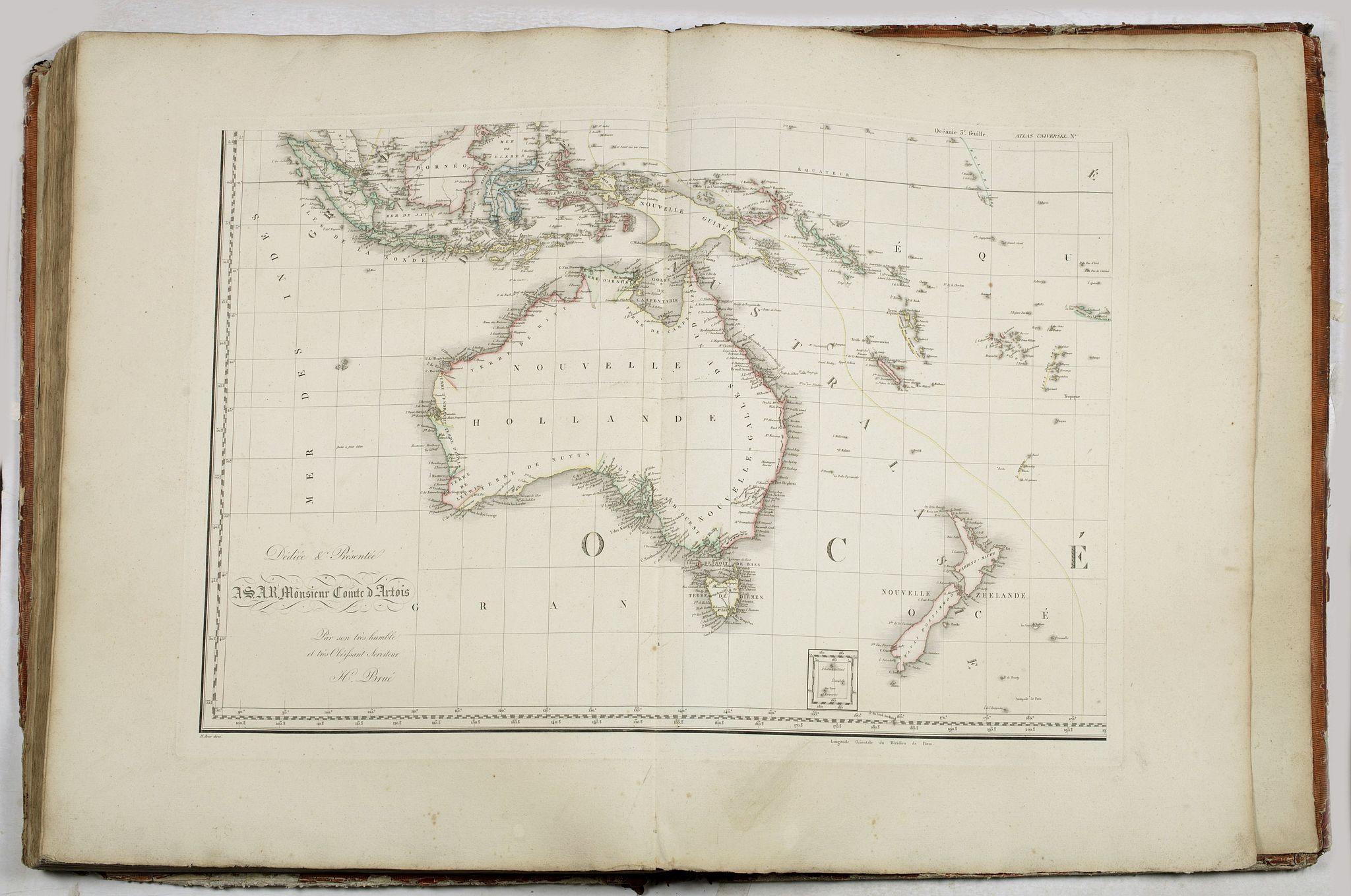 BRUE (Adrien Hubert). -  Grand atlas universel ou collection de cartes encyprotypes, générales et détaillées des cinq parties du monde.