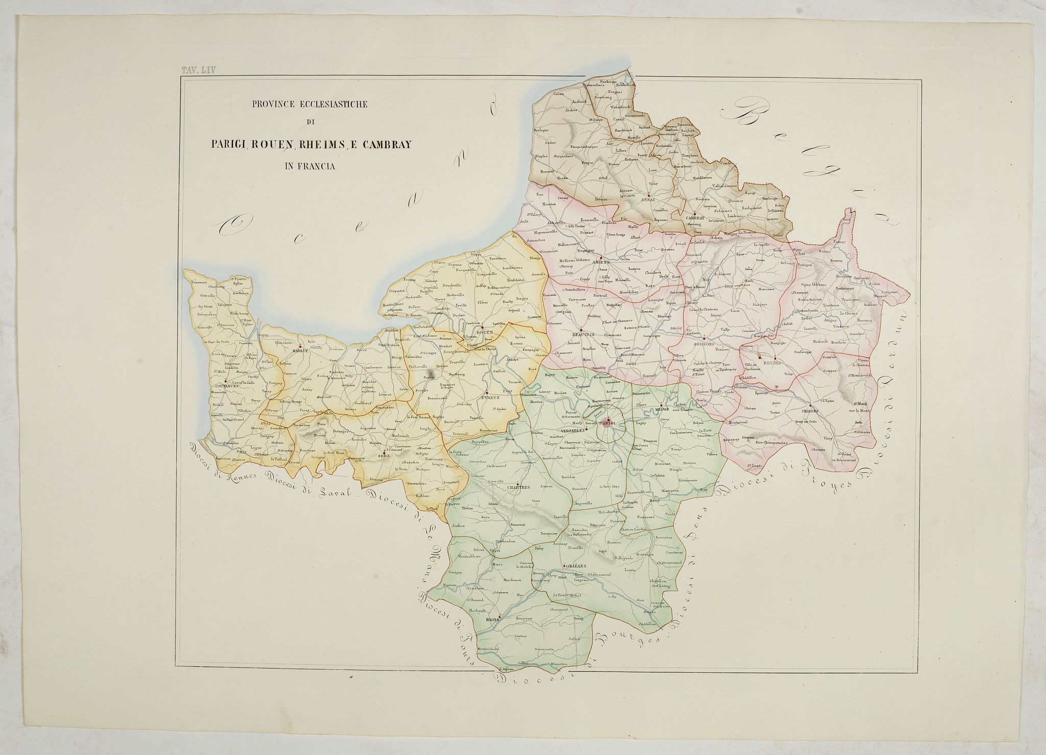 PETRI  Girolamo -  Province ecclesiastiche di Parigi, Rouen, Rheims, E Cambray in Francia (Tav LIV)