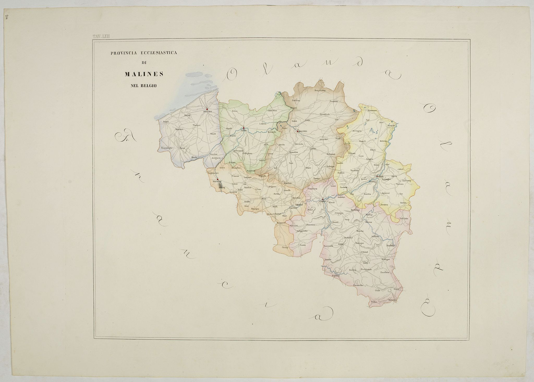 PETRI  Girolamo -  Provincia ecclesiastica di Malines nel Belgio (Tav LXII)