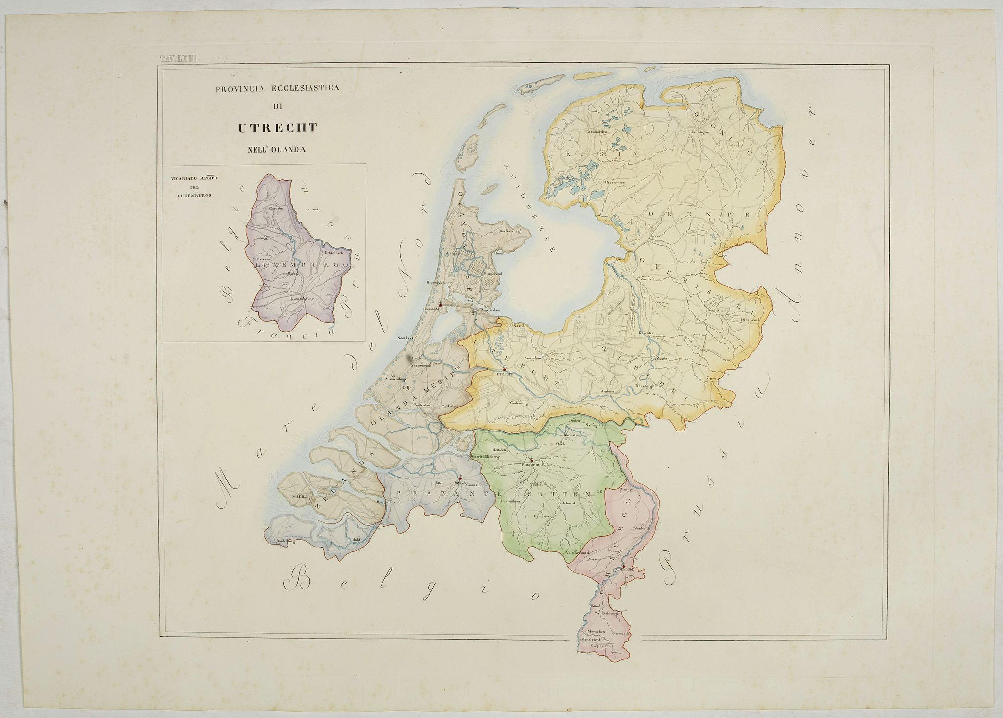 PETRI  Girolamo -  Provincia ecclesiastica di Utrecht Nell' Olanda (Tav LXIII)