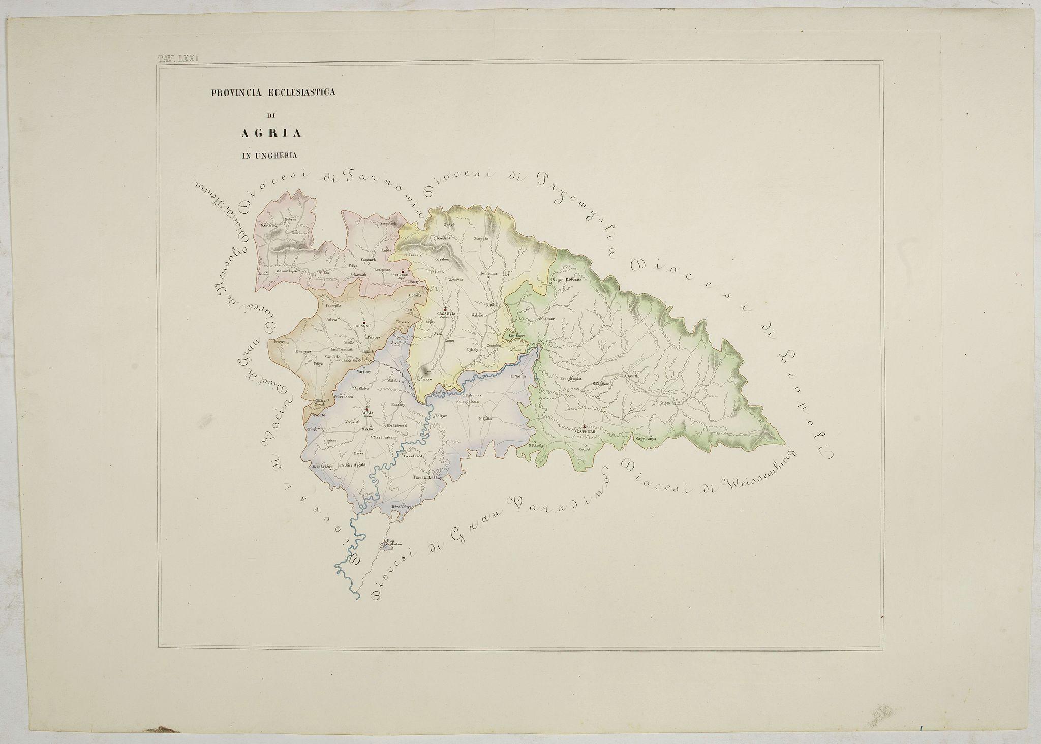 PETRI  Girolamo -  Provincia ecclesiastica di Agria in Ungheria (Tav LXXI)