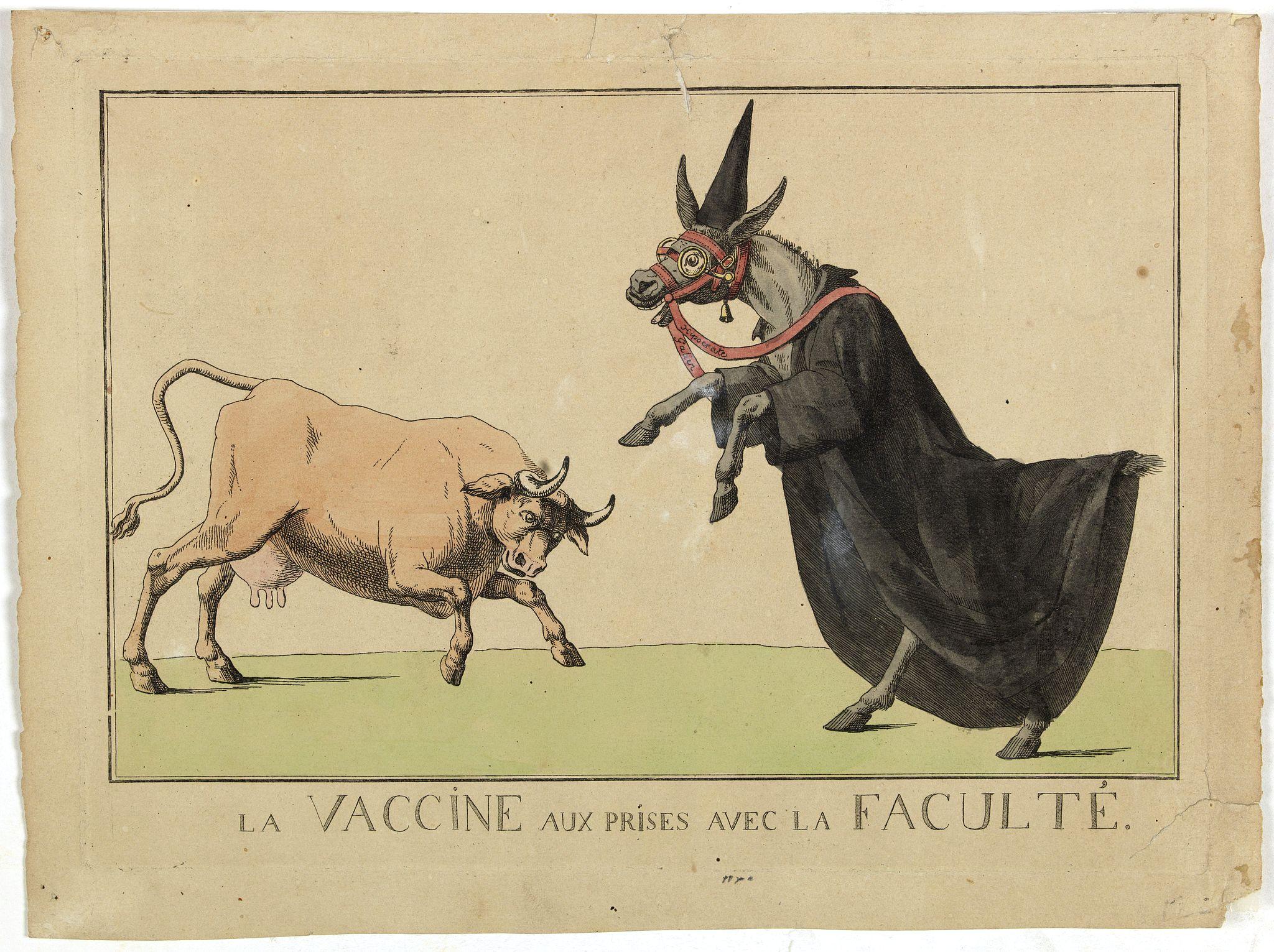 BARGES, Argaud de. -  La vaccine aux prises avec la Faculté.