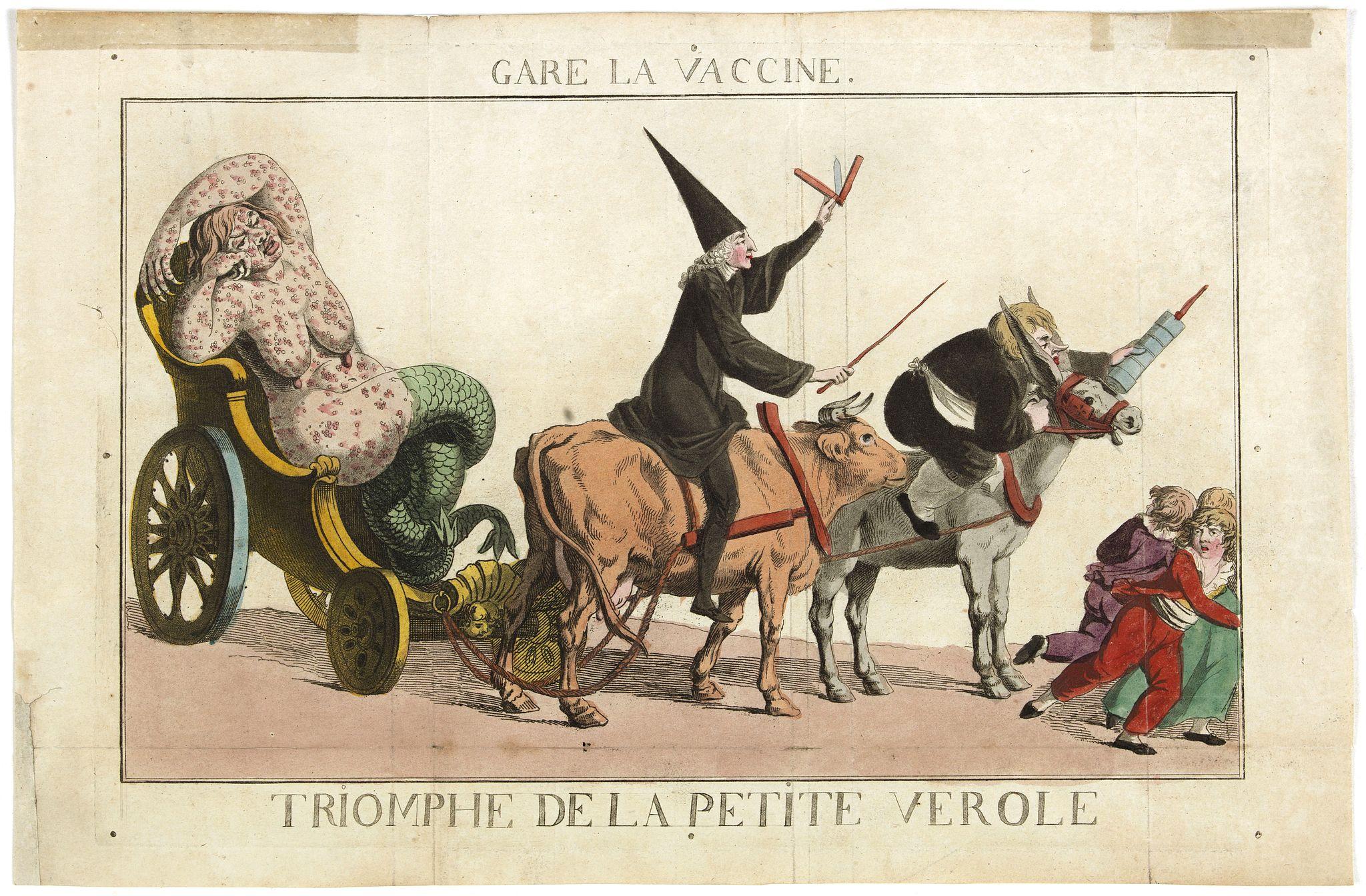 BARGES, Argaud de. -  Gare la Vaccine - Triomphe de la petite Vérole.