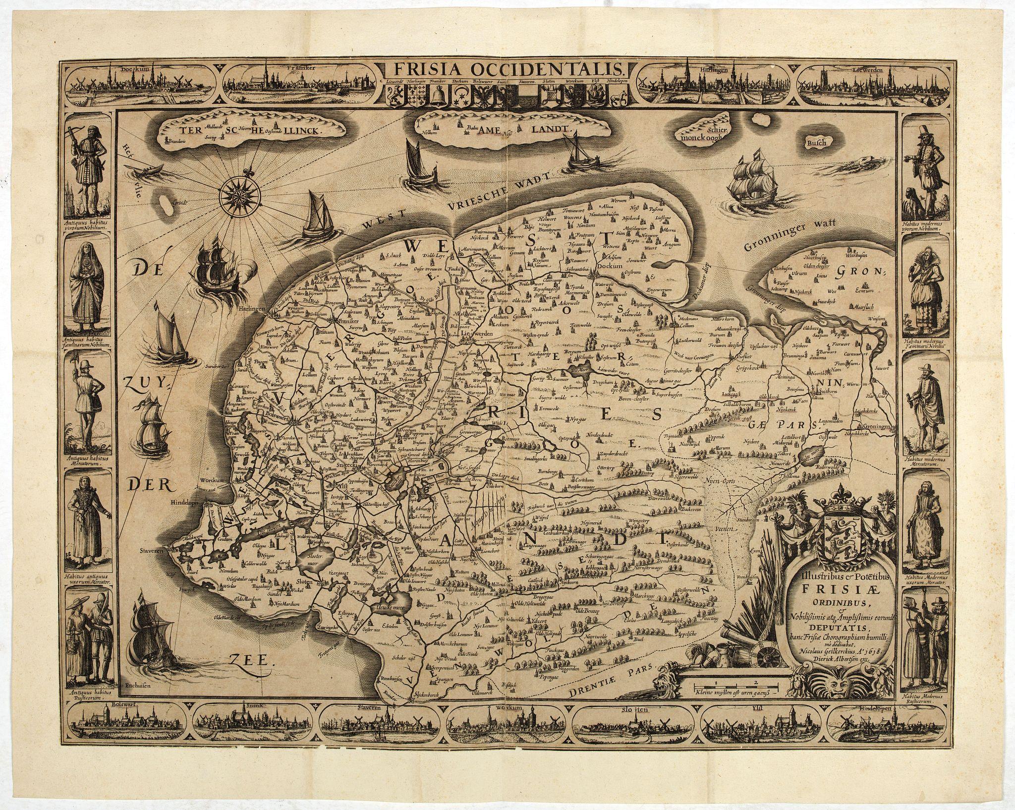 GEELKERCKEN, Nicolaes van. -  Frisia occidentalis.