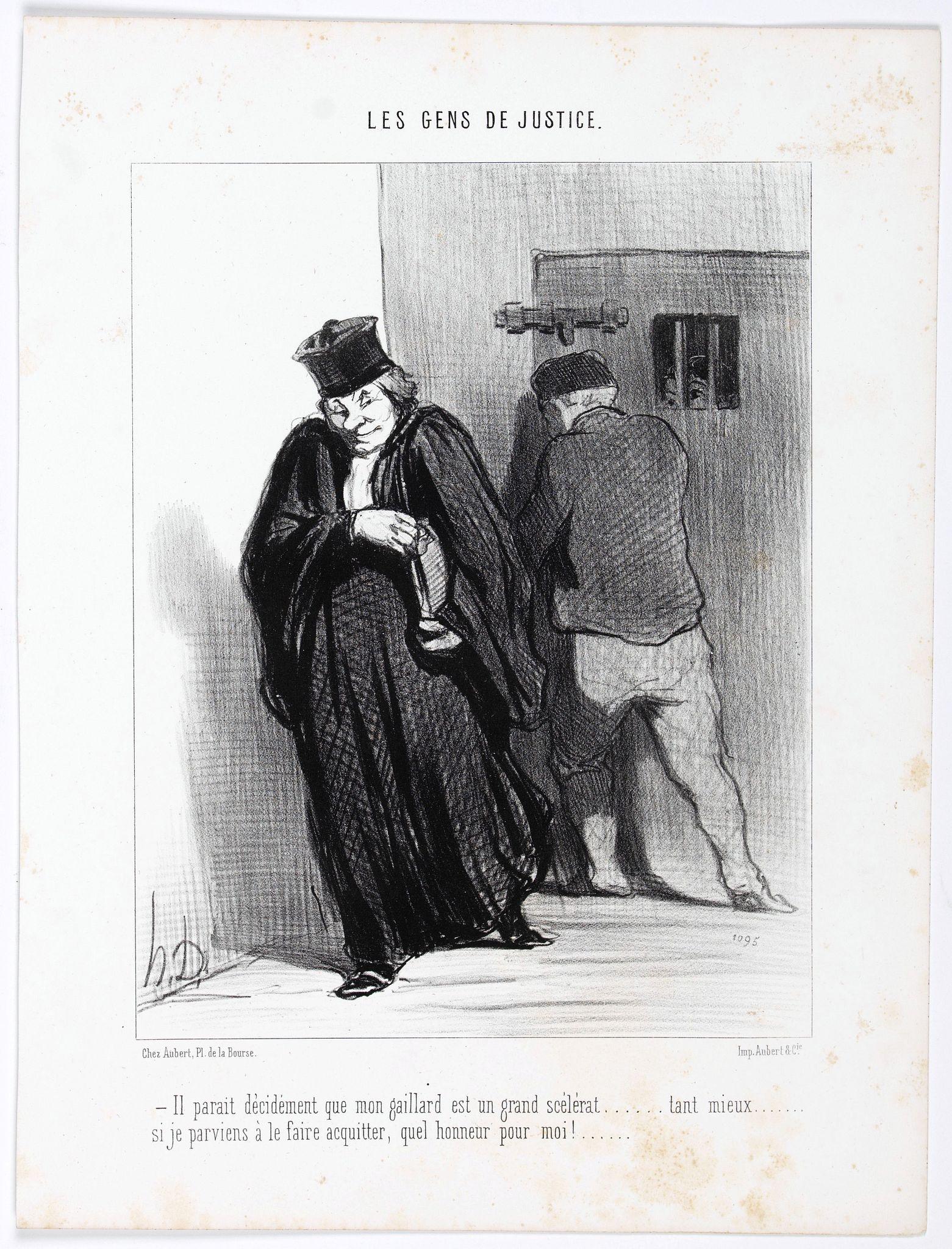 DAUMIER, H. -  Les Gens de Justice. - Il parait décidement que mon gaillard est un grand scélérat . . . (pl 37)