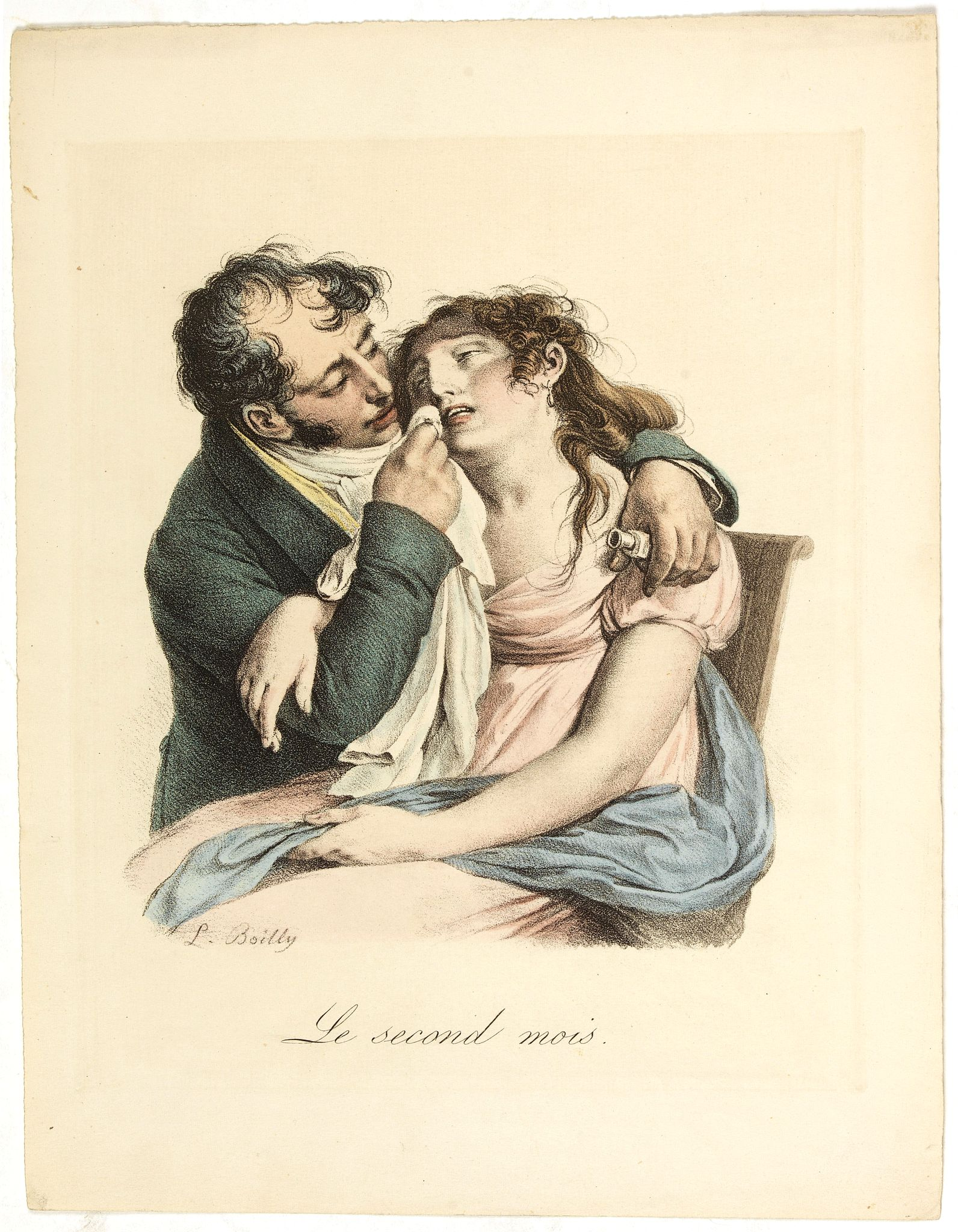 BOILLY, L. -  Le Second Mois. (The second month).