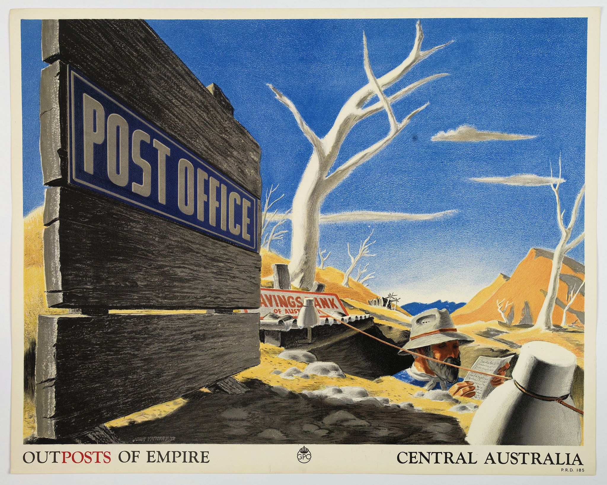 VICKERY, John. -  Outposts of Empire. Central Australia.