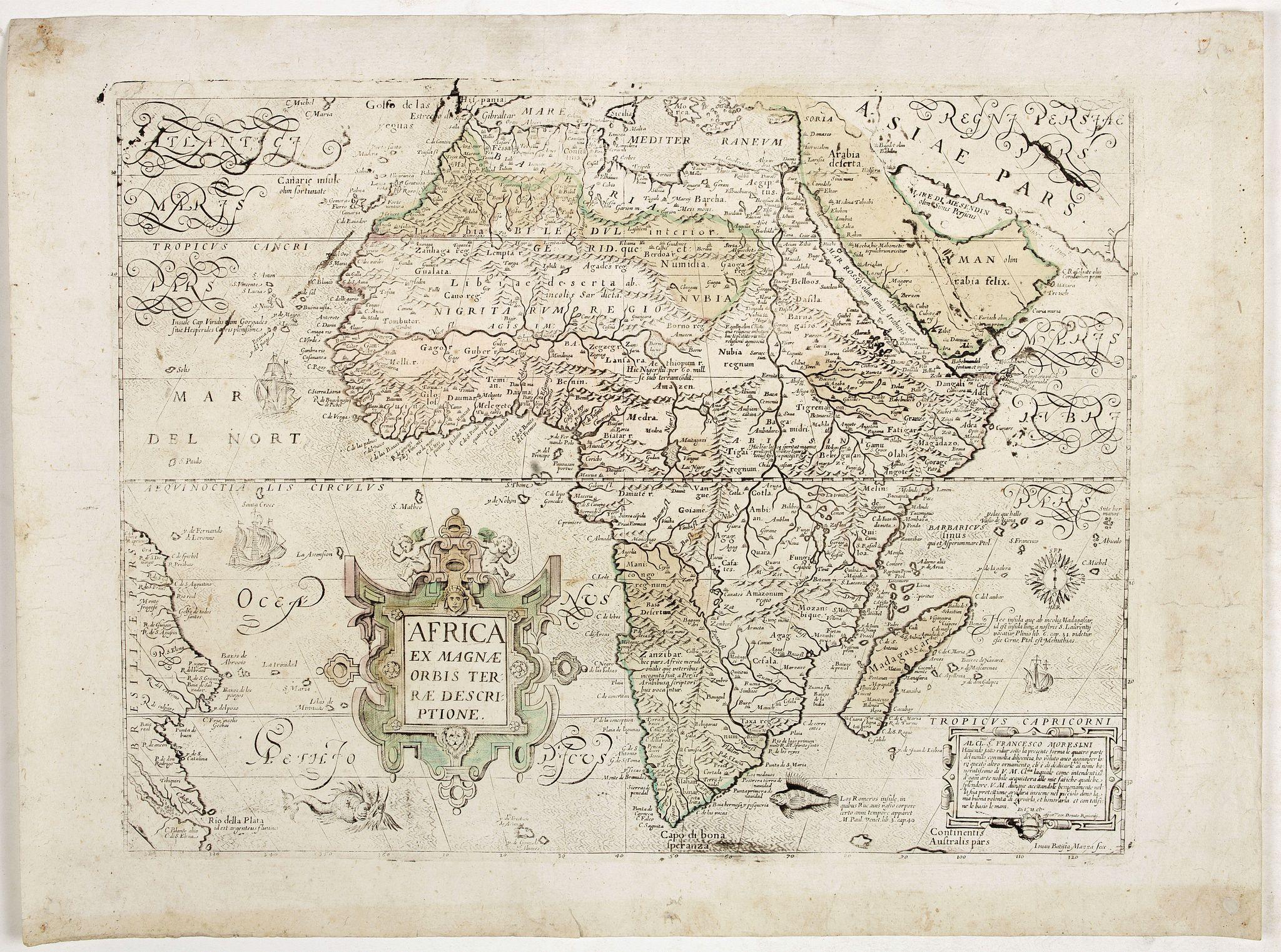 MAZZA, Giovanni Battista / RASCIOTTI, Donato. -  Africa ex magnae Orbis Terrae Descriptione.