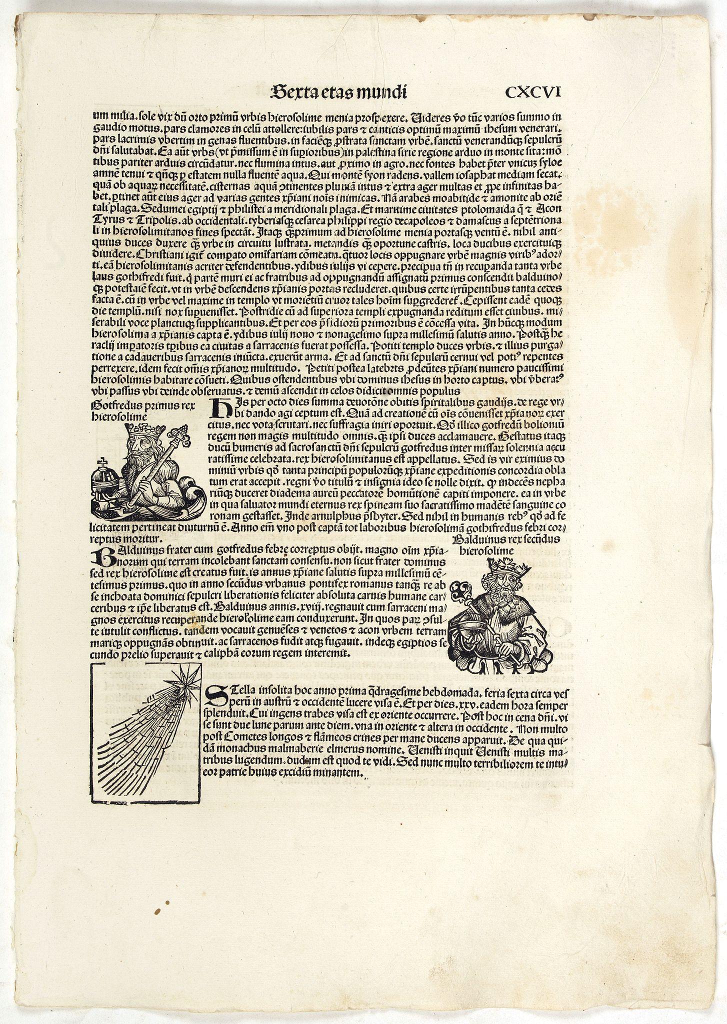 SCHEDEL, H. -  Terta Etas Mundi. Folium. CXCVI
