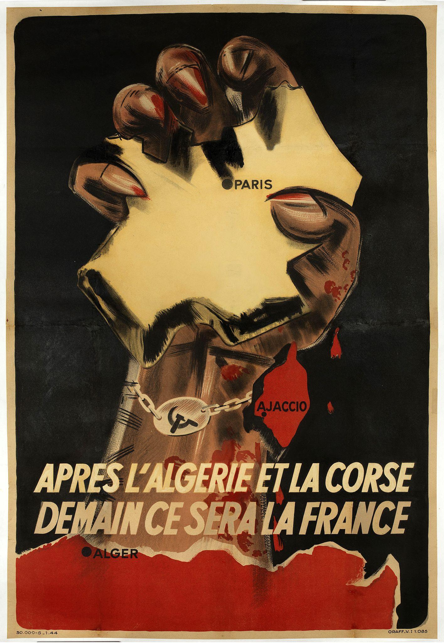 ORAFF -  Après l'Algérie et la Corse Demain se sera la France.