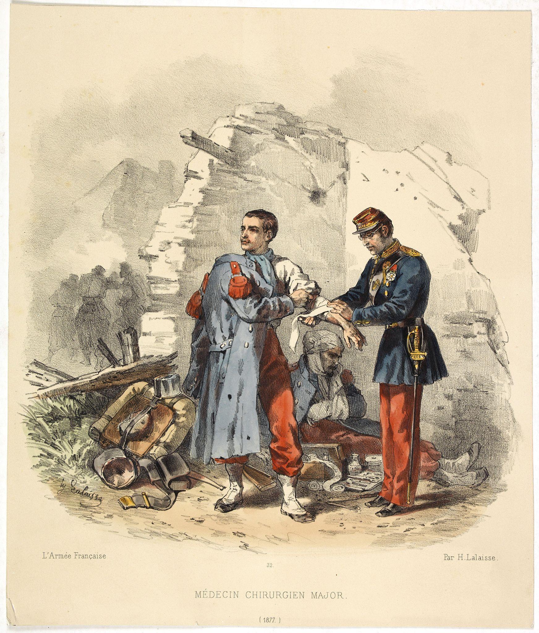 LALAISSE, H. -  L'Armée Française - Medecin chirurgien Major. (Pl 32)