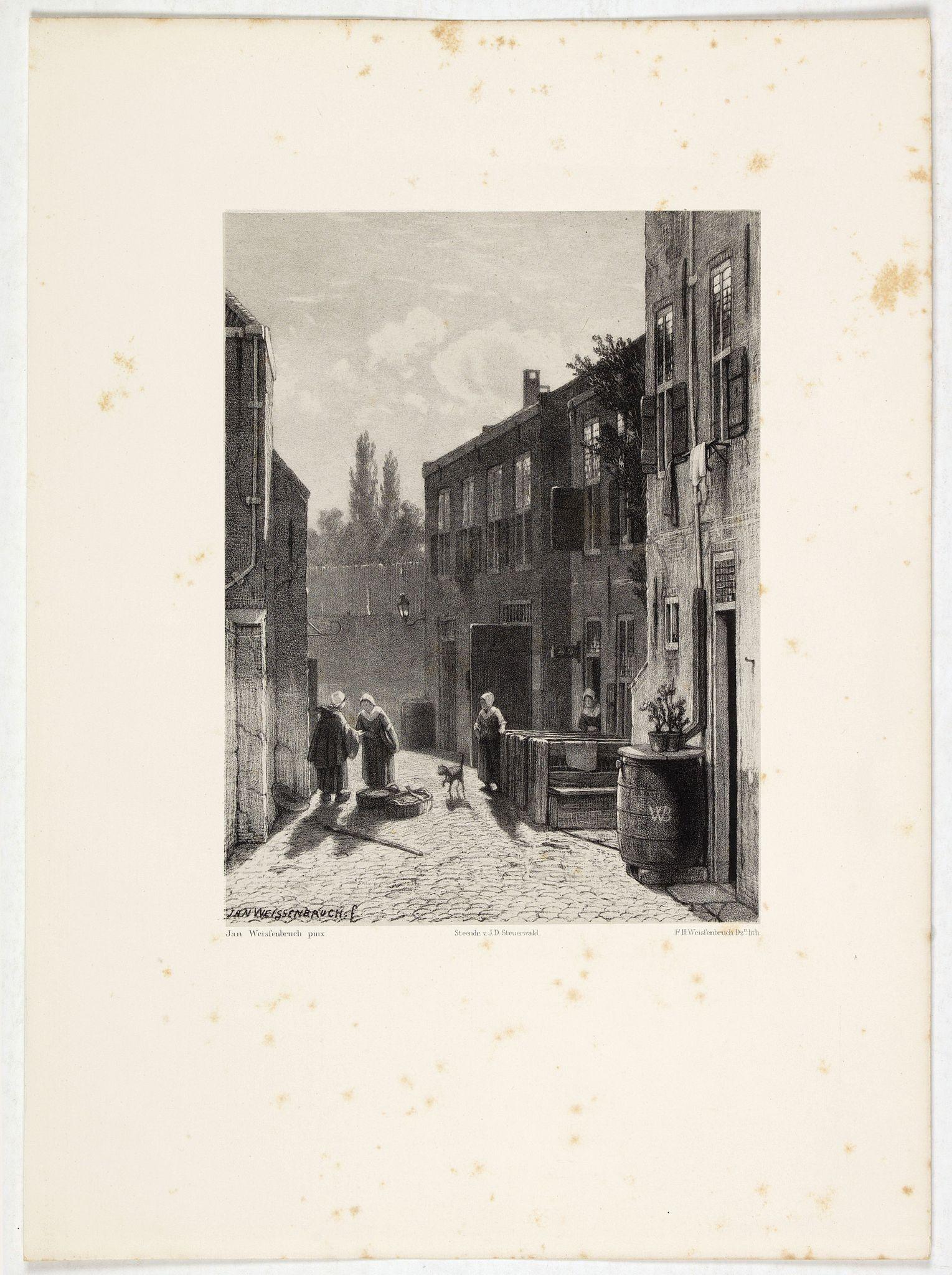 WEISSENBRUCH, J. -  Dutch street scene.