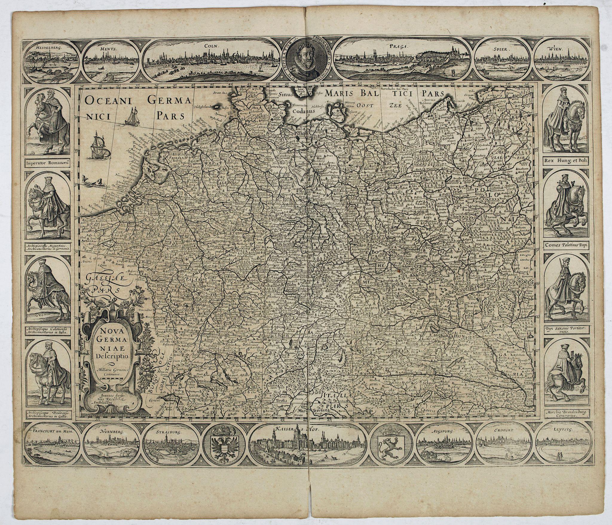 JANSSONIUS, J. -  Nova Germaniae Descriptio..