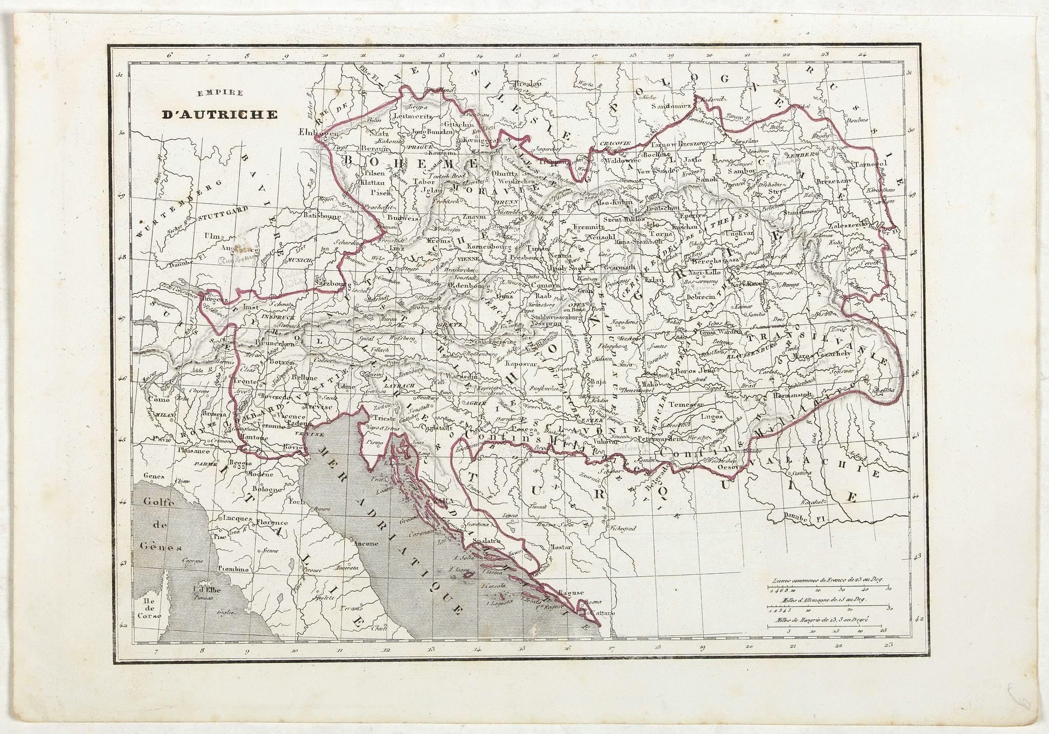 MONIN, C.V. -  Empire d'Autriche.