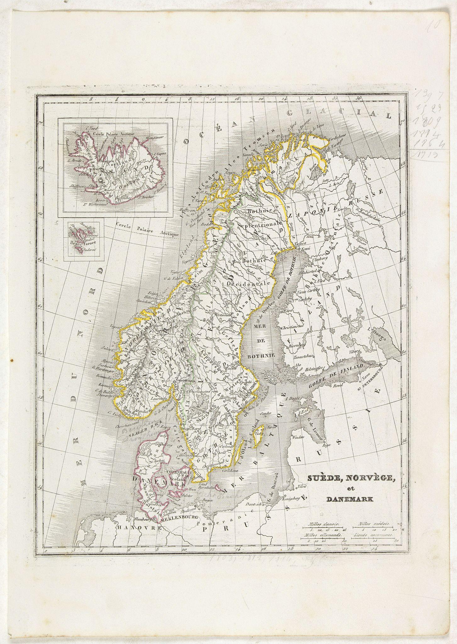 MONIN, C.V. -  Suède, Norvège et Danemark.