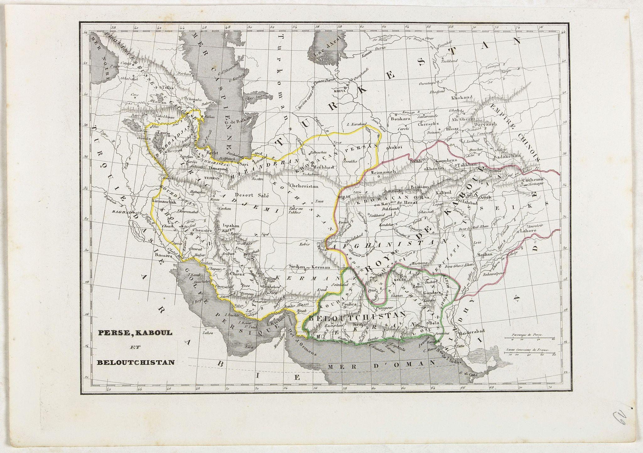 MONIN, C.V. -  Perse, Kaboul et Beloutchistan.