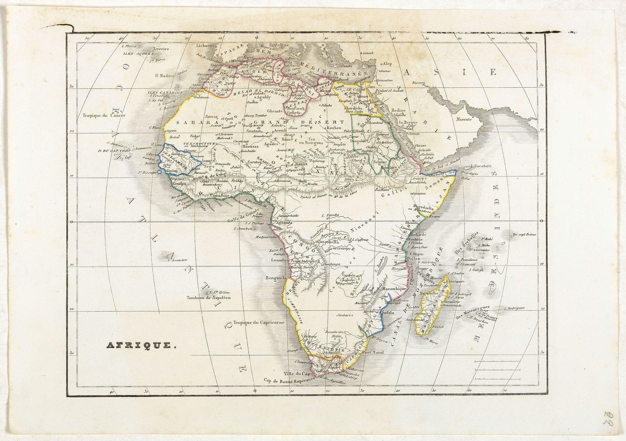 MONIN, C.V. -  Afrique.
