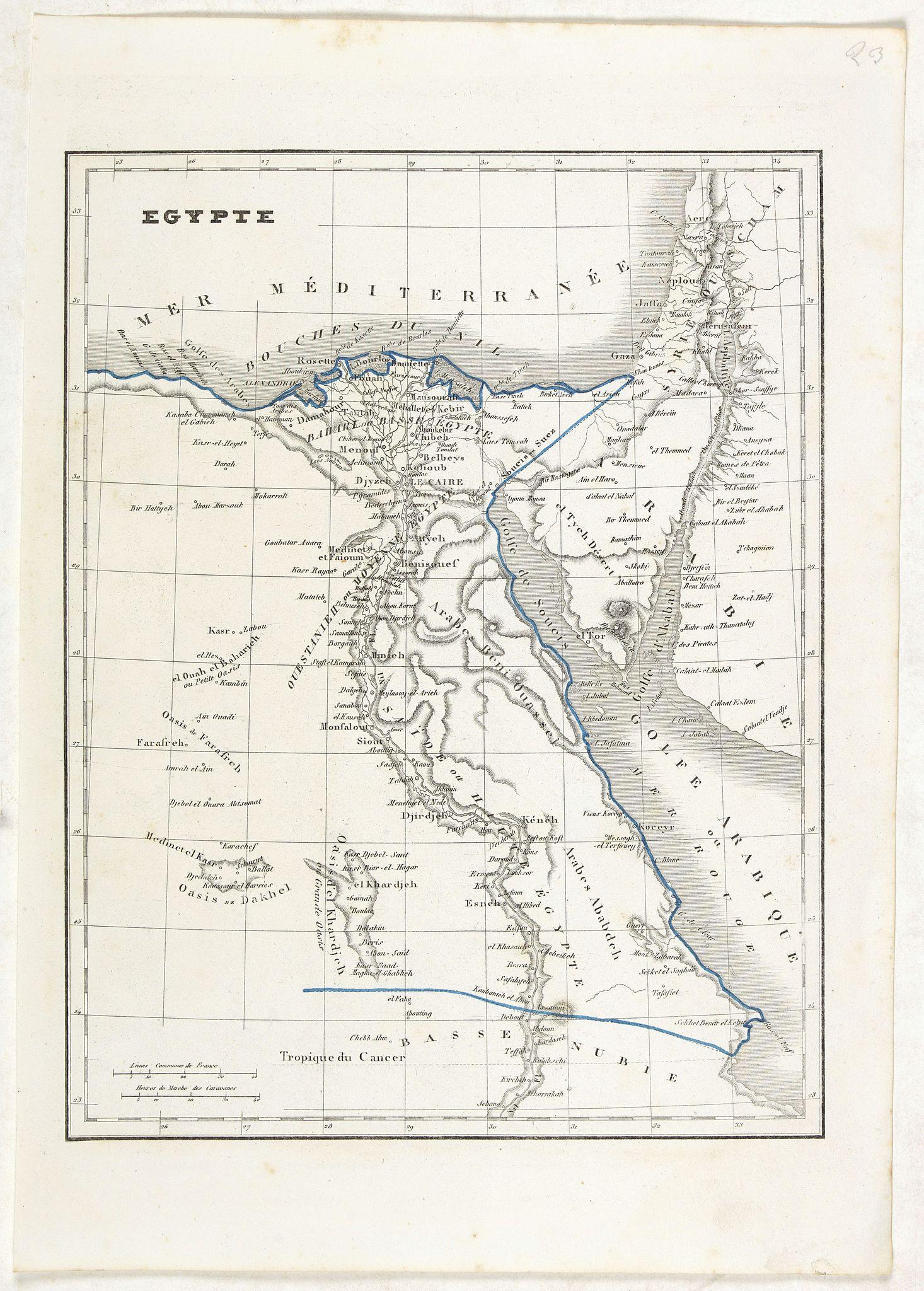 MONIN, C.V. -  Egypte.