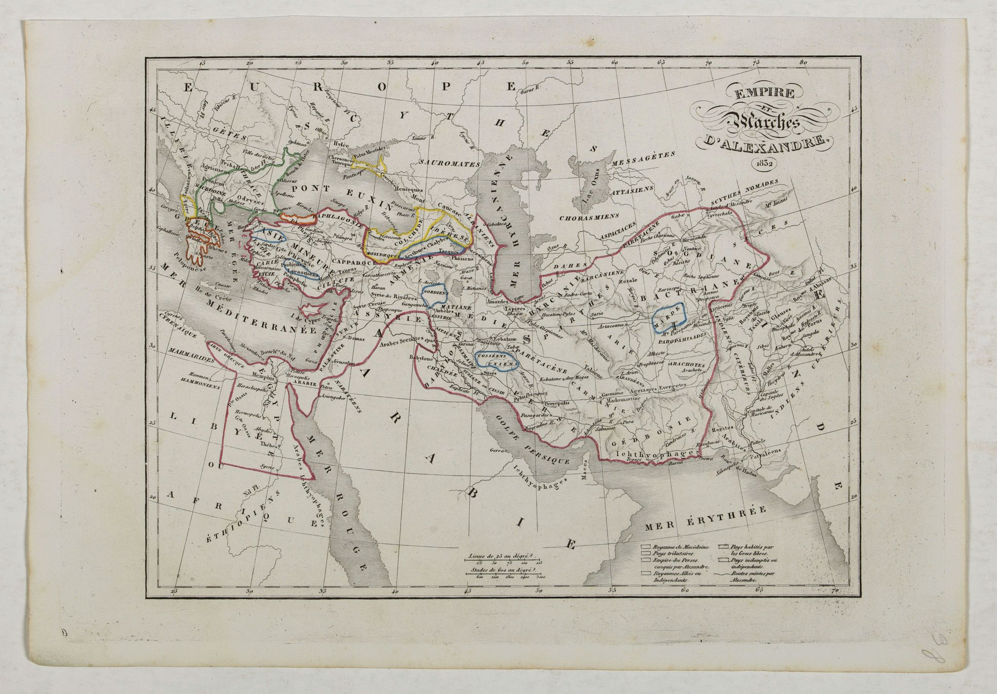 MONIN, C.V. -  Empire et Marches D'Alexandrie.