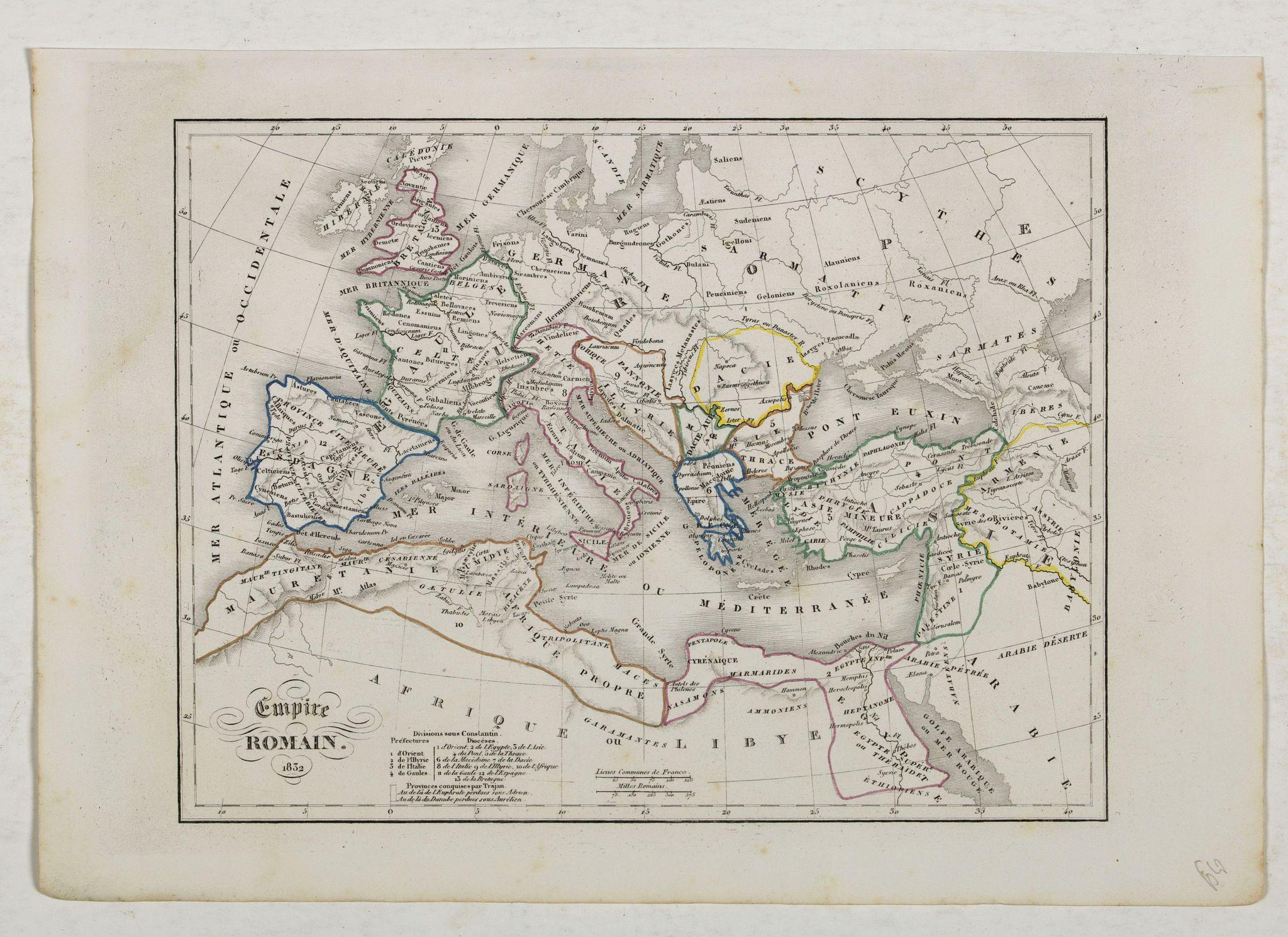 MONIN, C.V. -  Empire Romain.
