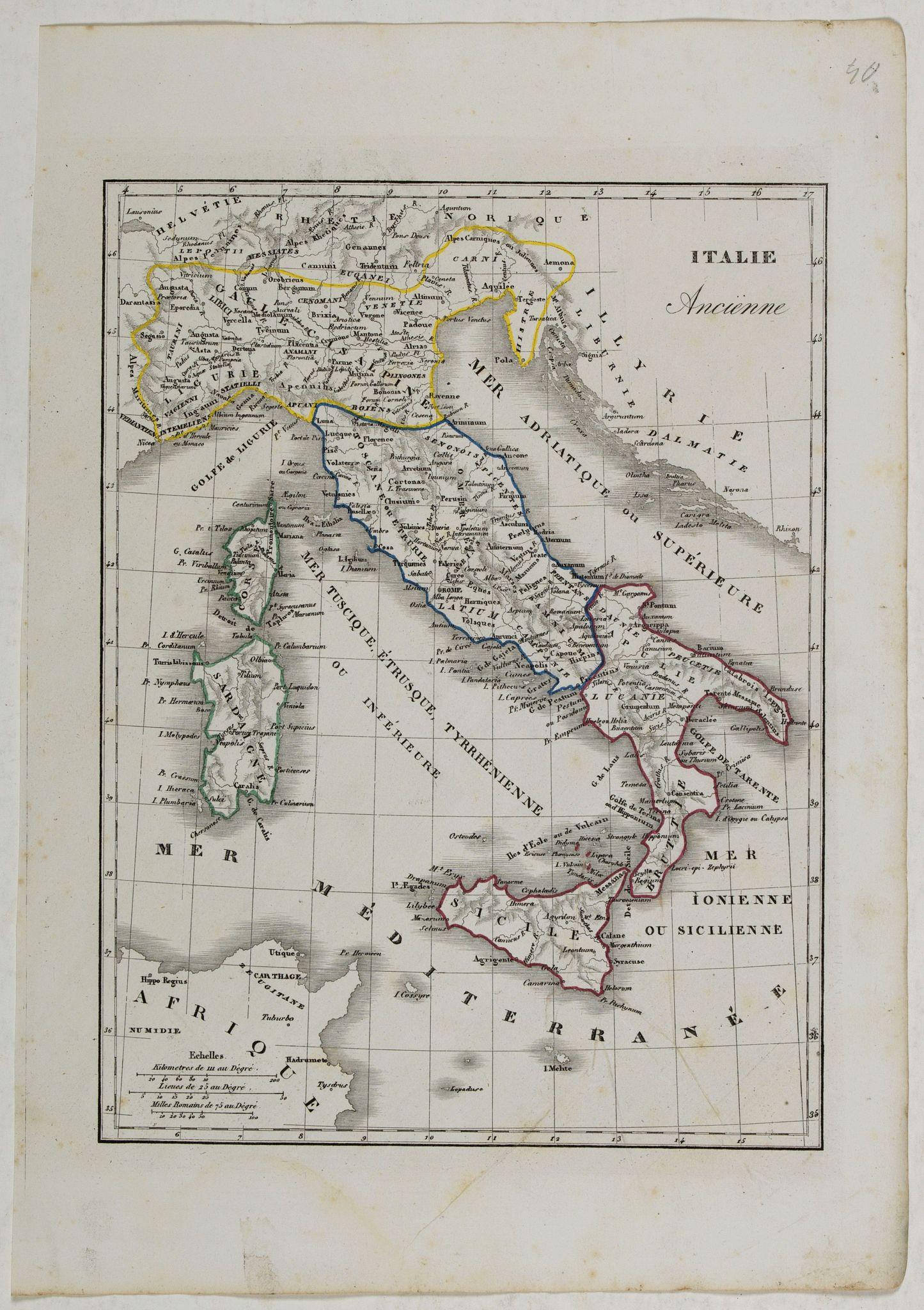 MONIN, C.V. -  Italie Ancienne.