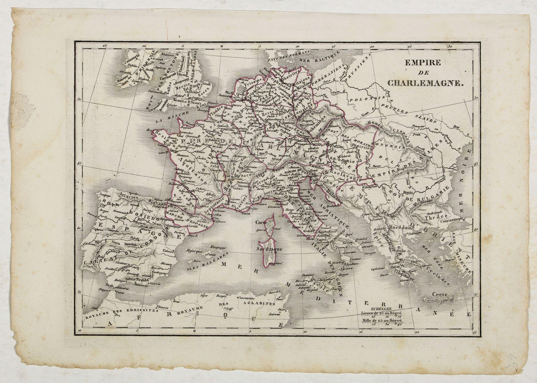 MONIN, C.V. -  Empire de Charlemagne.
