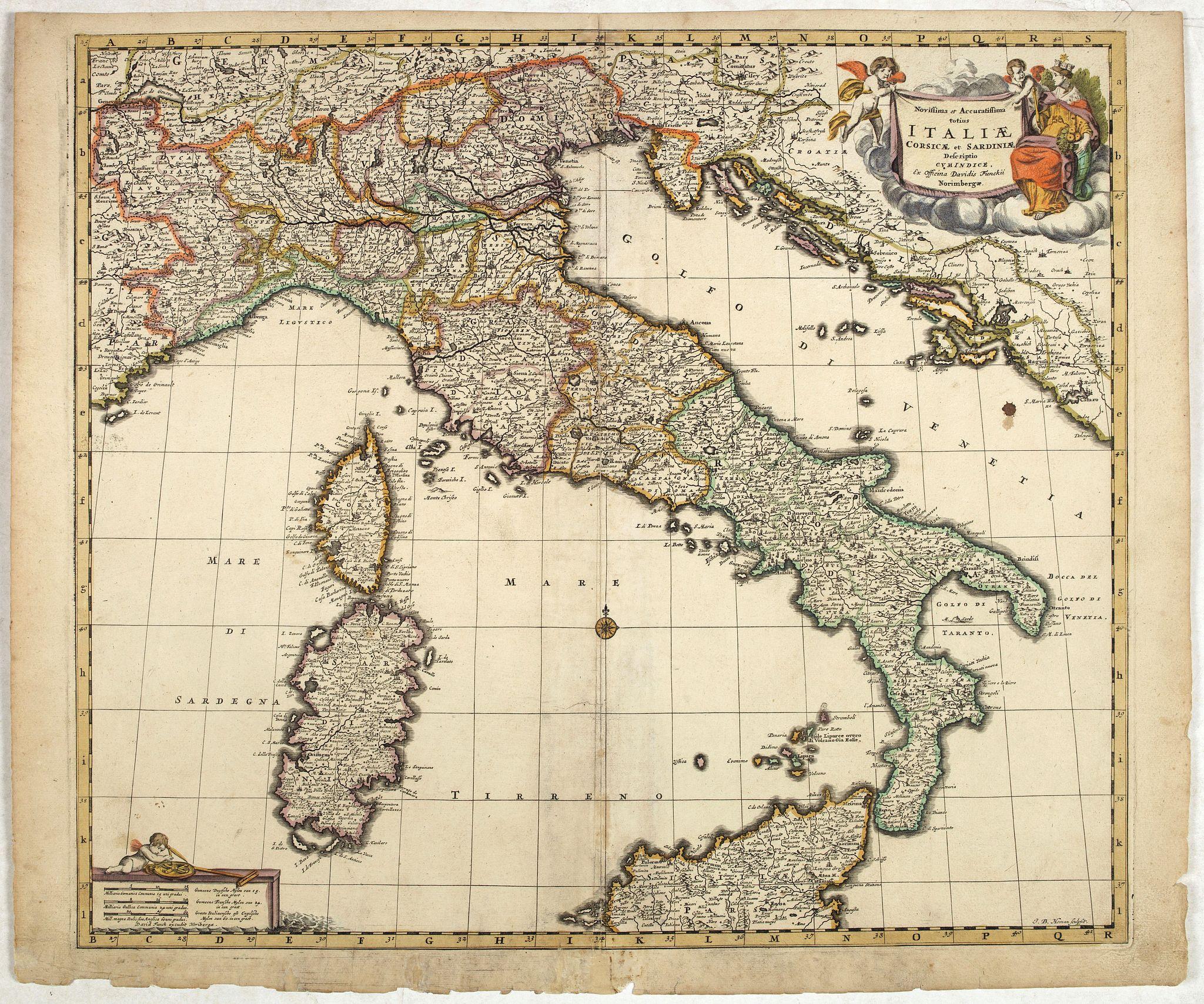 DE WIT,F -  Novissima et accuratissima totius Italiae..