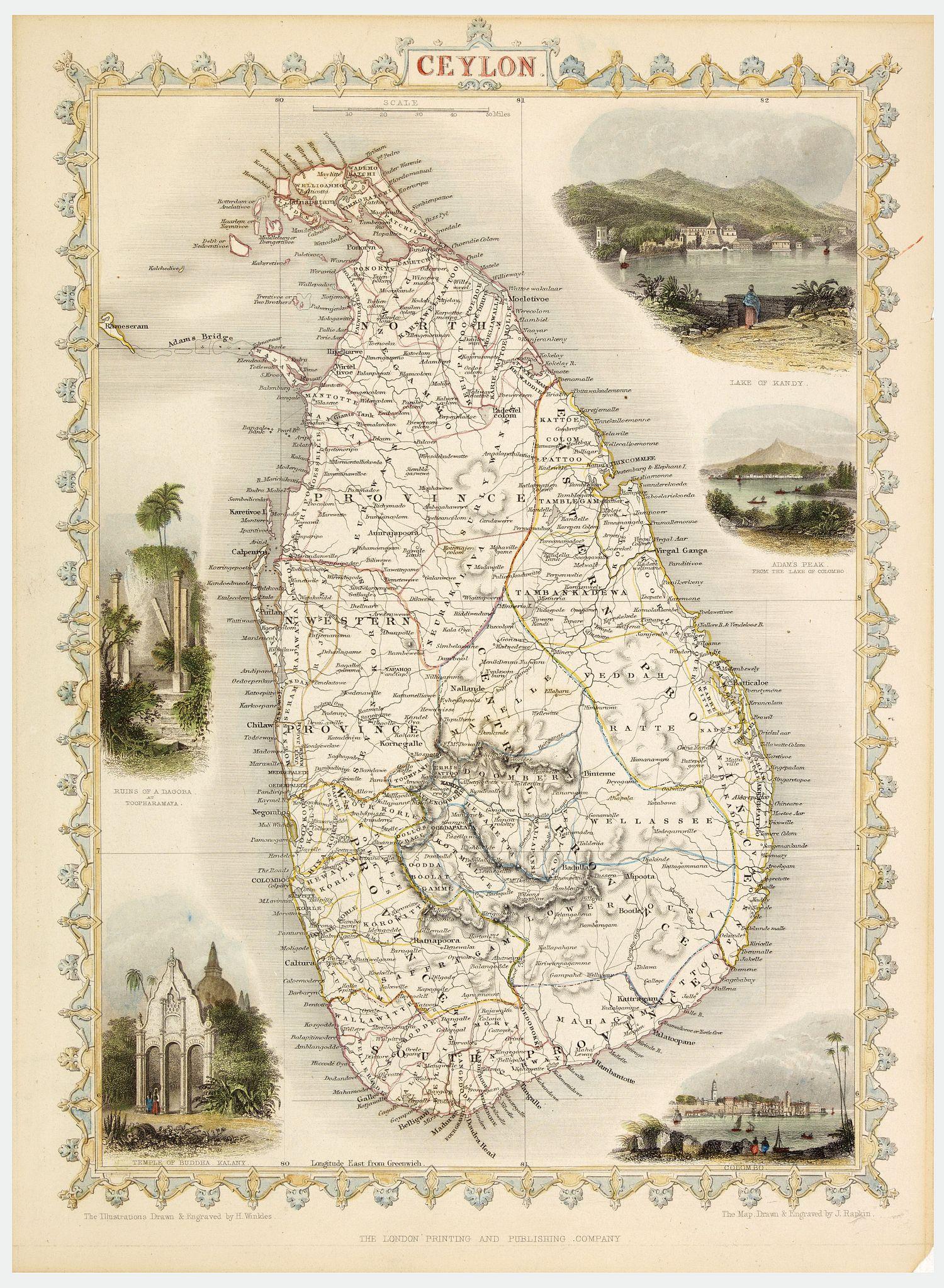 RAPKIN, J. / THE LONDON PRINTING AND PUBLISHING CO -  Ceylon.