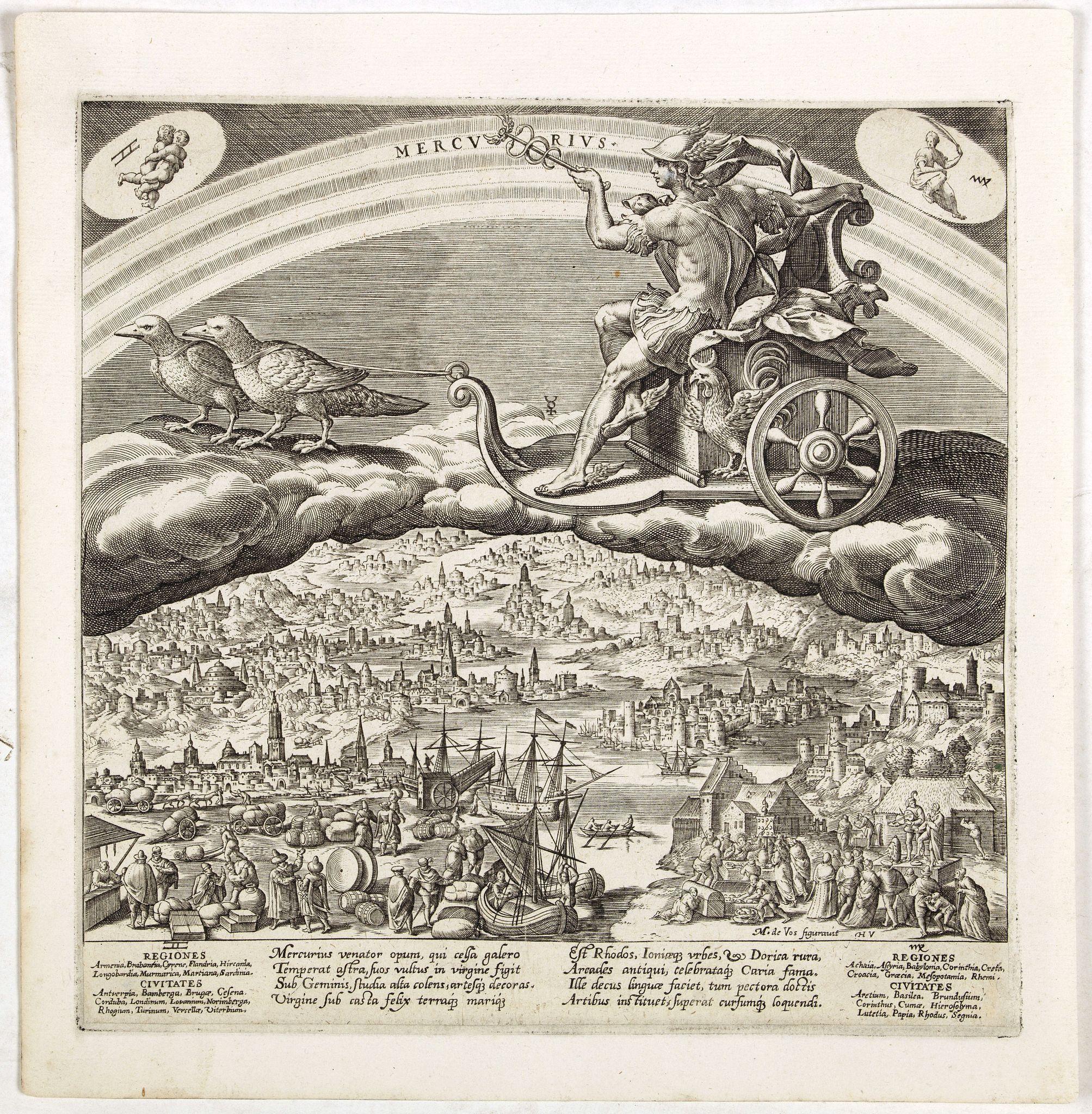 DE VOS, M. after -  Mercurius.