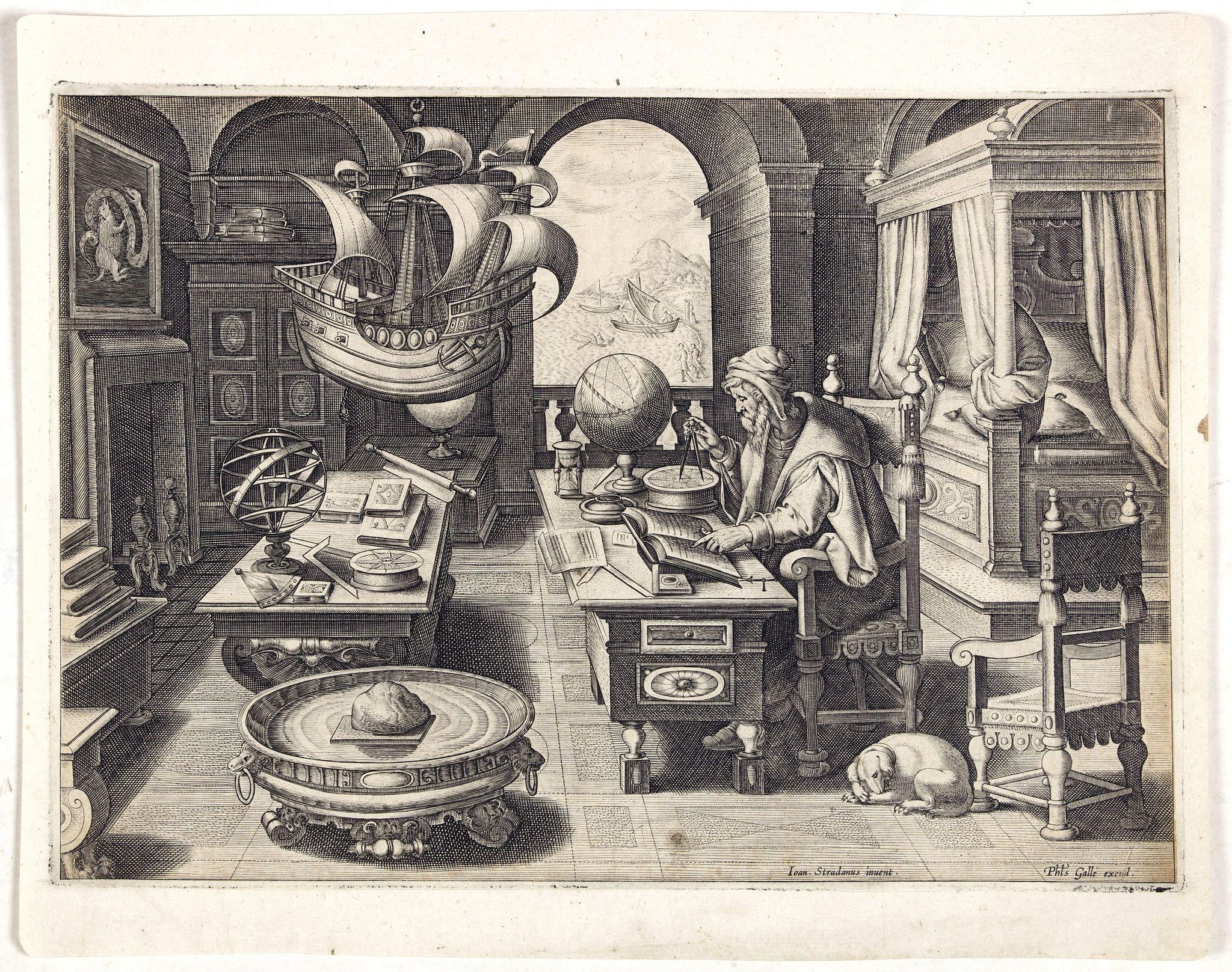 STRADANUS, Johannes / COLLAERT, Jan (II). -  Lapis polaris magnes.