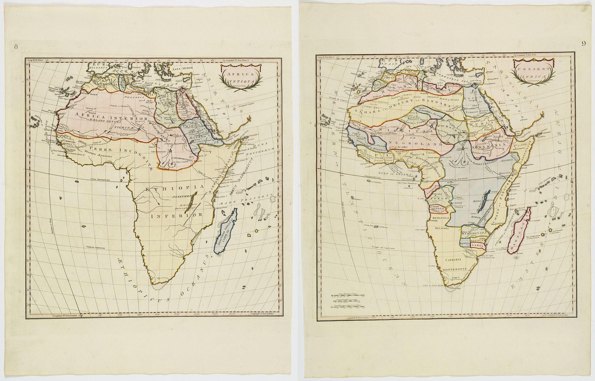STACKHOUSE, Thomas. - Africa Antiqua / Present Africa.